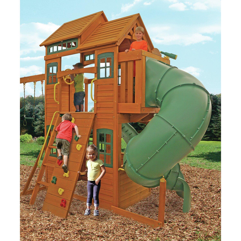100 Big Backyard Ashberry Wood Swing Set Swing N Slide Pb 8
