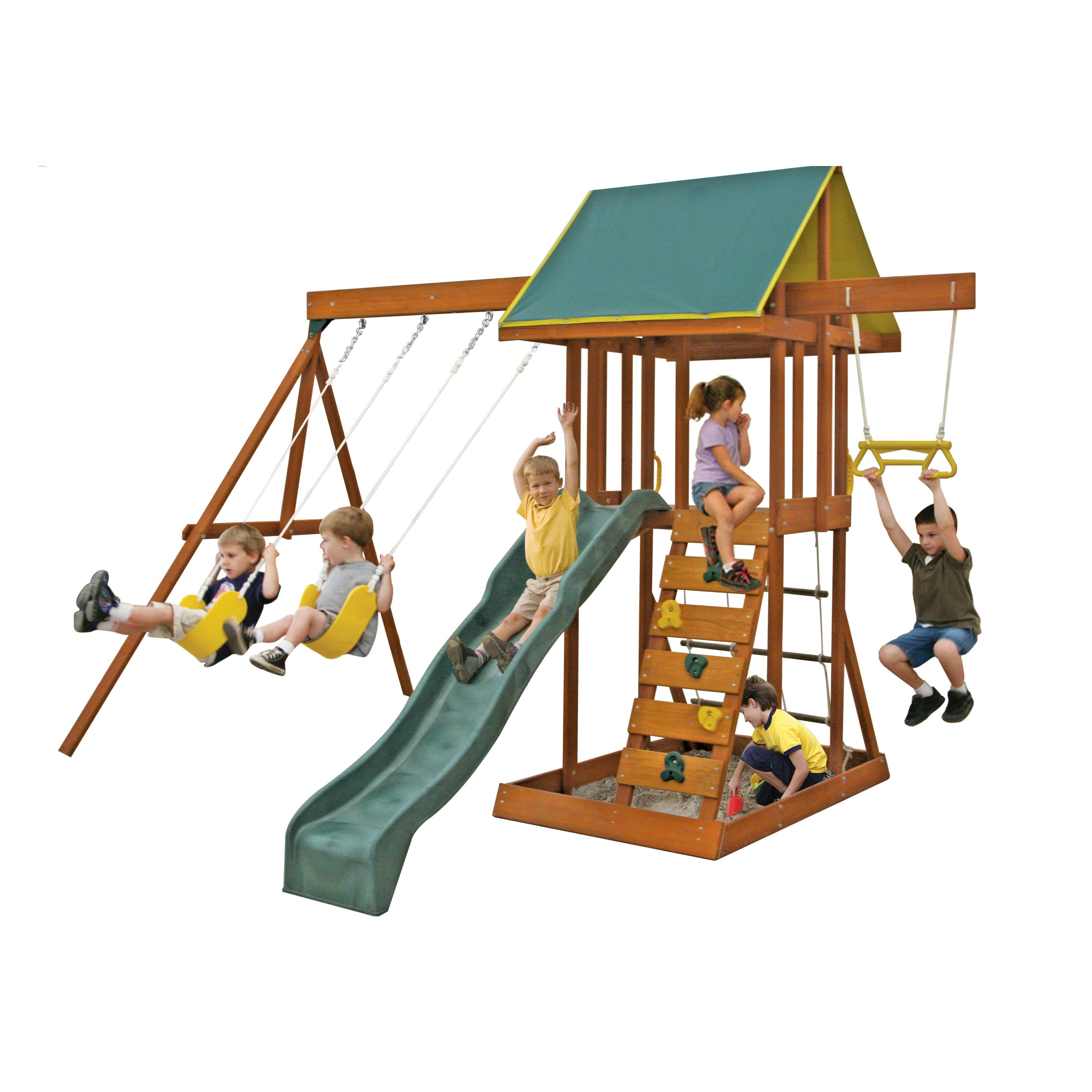 Big Backyard Scout Meadowvale Wooden Swing Set & Reviews ...