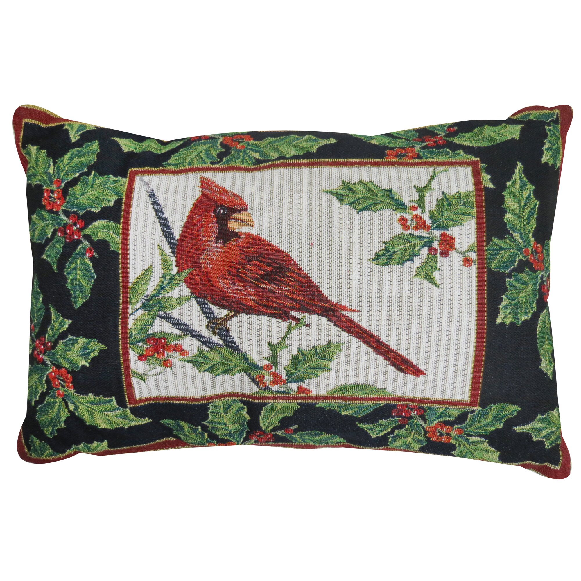 Park B Smith Ltd Vintage House Cardinal Tapestry Throw Pillow & Reviews Wayfair