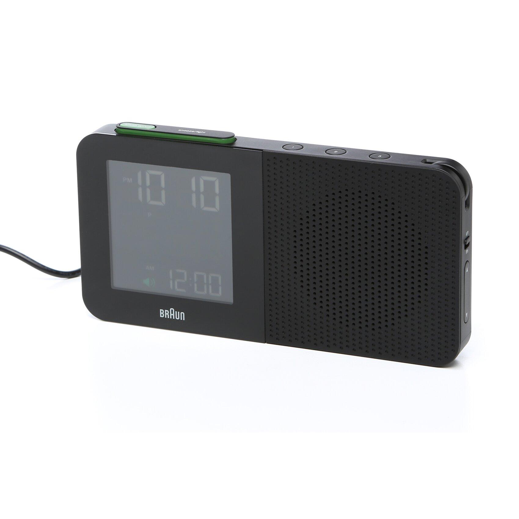 braun digital alarm clock radio reviews wayfair. Black Bedroom Furniture Sets. Home Design Ideas