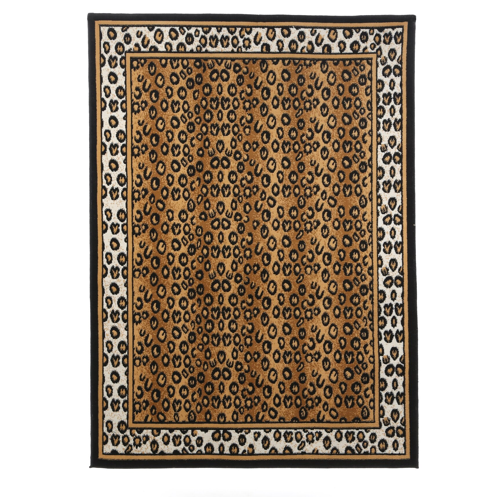 Home Dynamix Zone Leopard Brown Area Rug & Reviews
