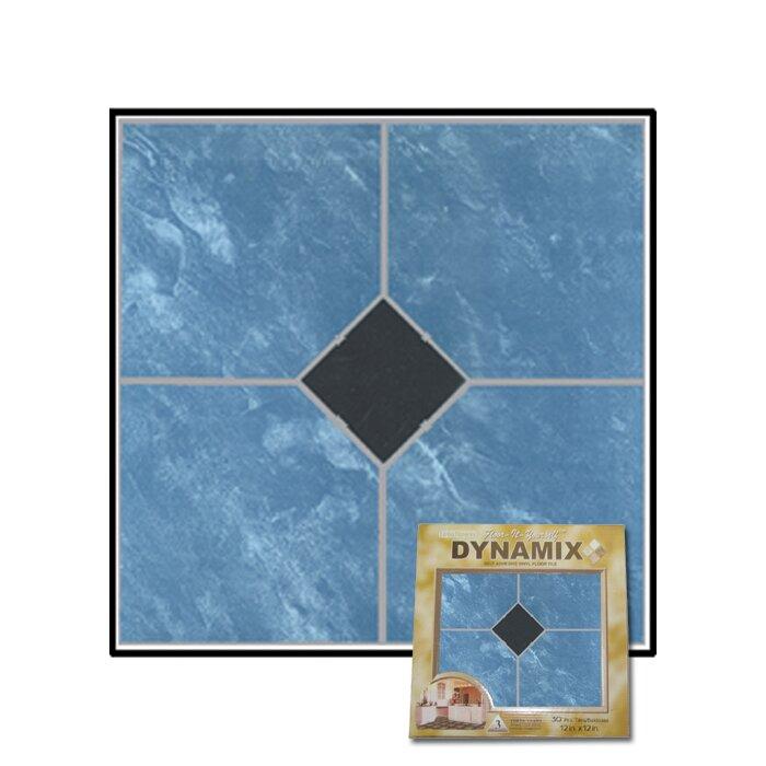 "Dynamix Vinyl Tile 1009: Home Dynamix 12"" X 12"" Luxury Vinyl Tile In Blue Marble"