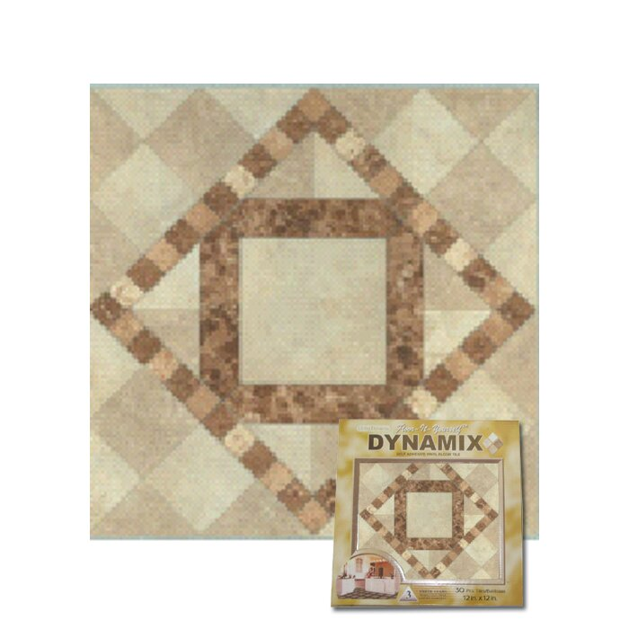 "Home Dynamix 12"" X 12"" Luxury Vinyl Tile In Beige / Brown"