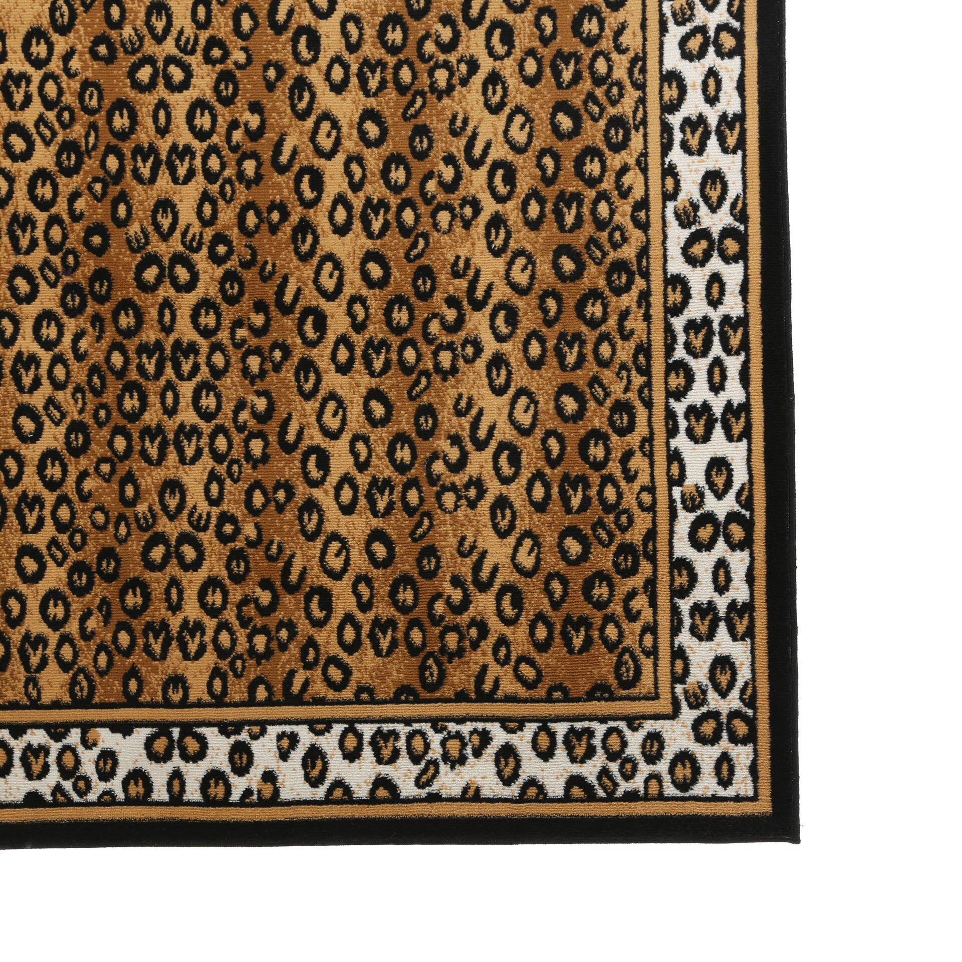 Zebra Rug Wayfair: Home Dynamix Zone Leopard Brown Area Rug & Reviews