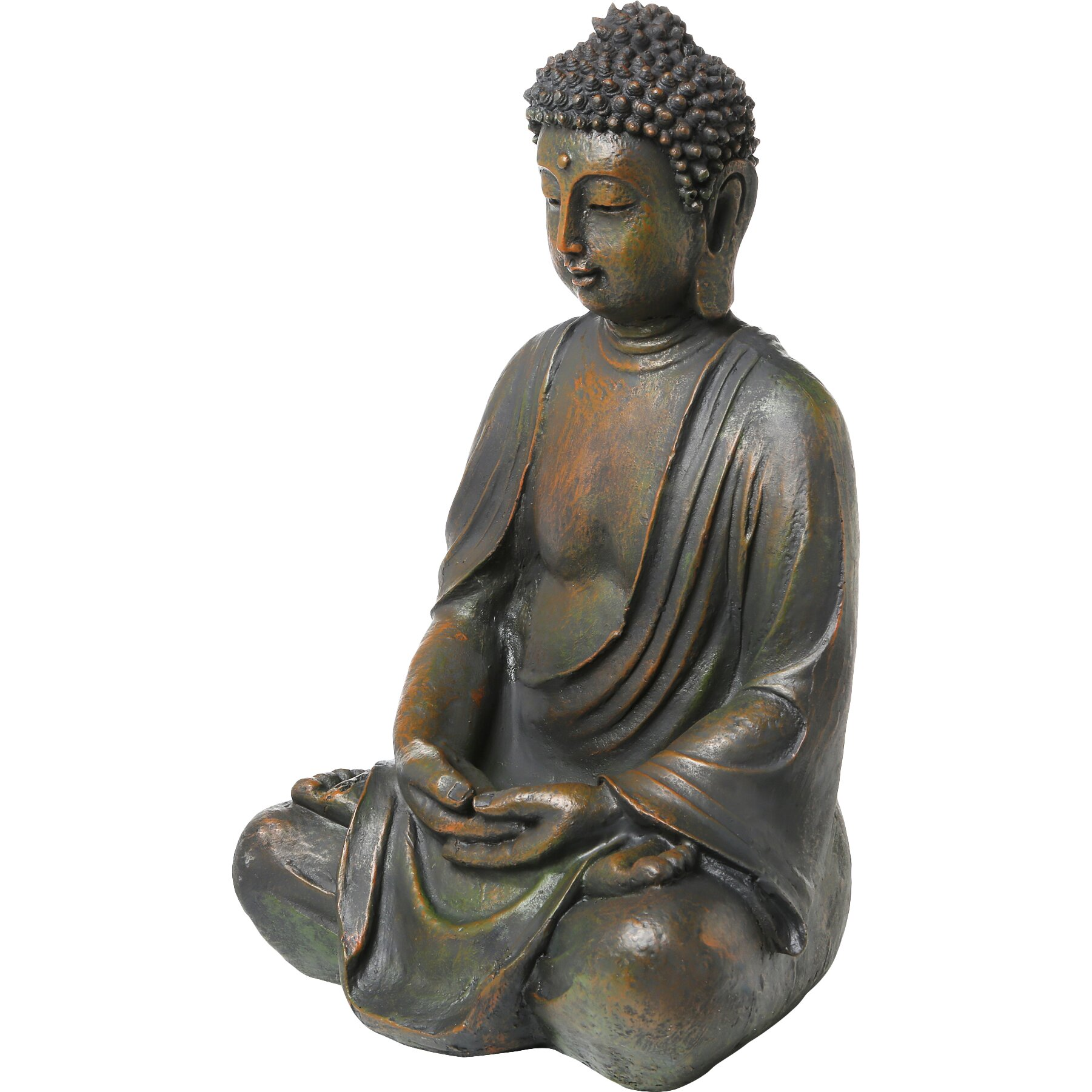alpine buddha garden statue reviews wayfair. Black Bedroom Furniture Sets. Home Design Ideas