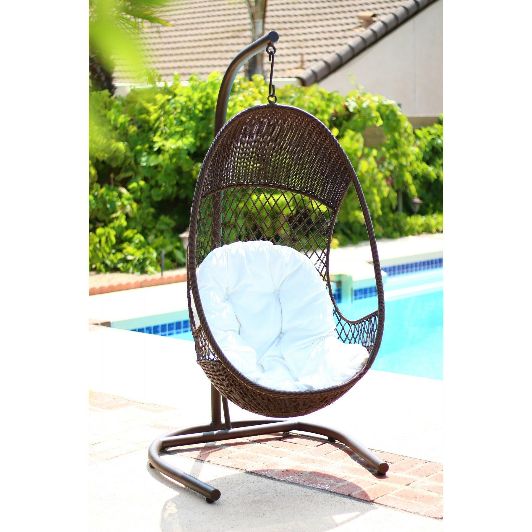 Alpine Alpine Swing Chair With Cushions Wayfair