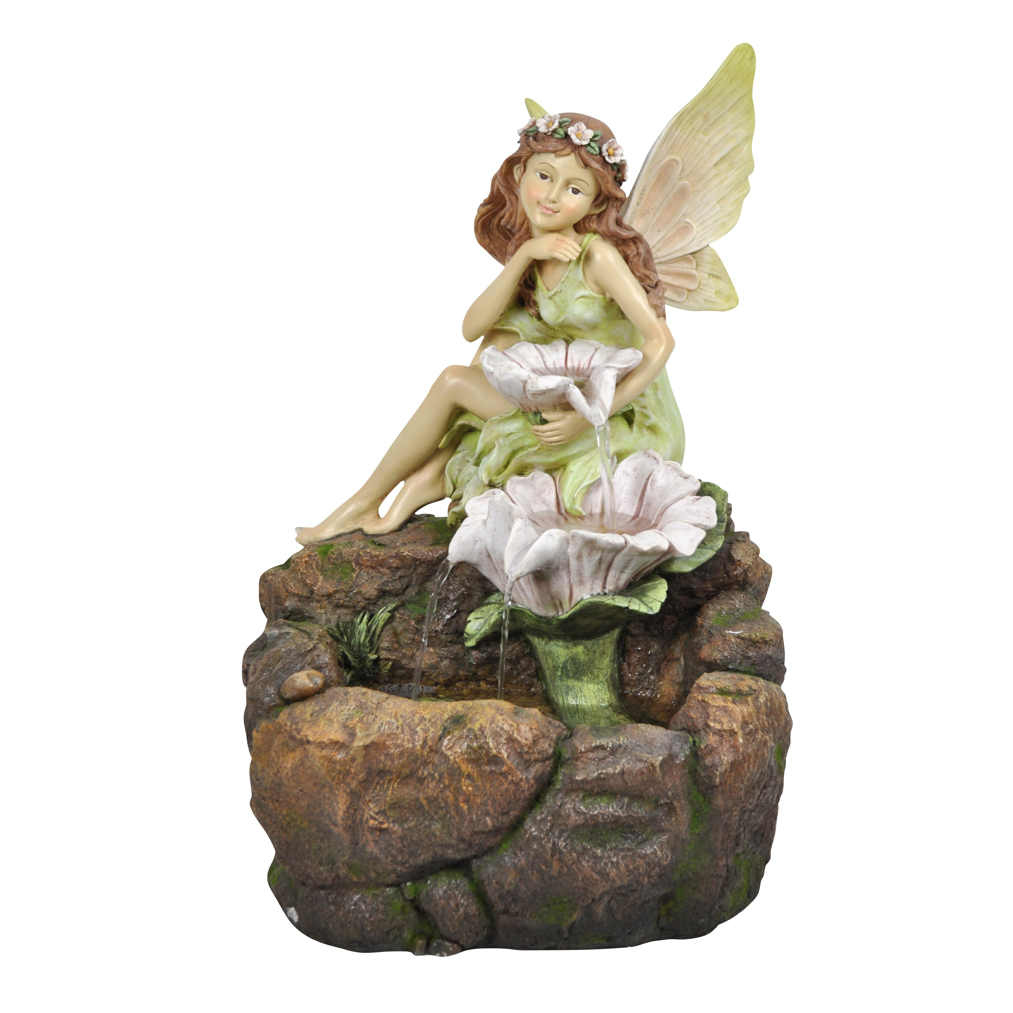 Alpine Resin Fairy and Flowers Fountain with LED Light  : Alpine Resin Fairy and Flowers Fountain with LED Light GZZ300 from www.wayfair.com size 3477 x 3477 jpeg 664kB