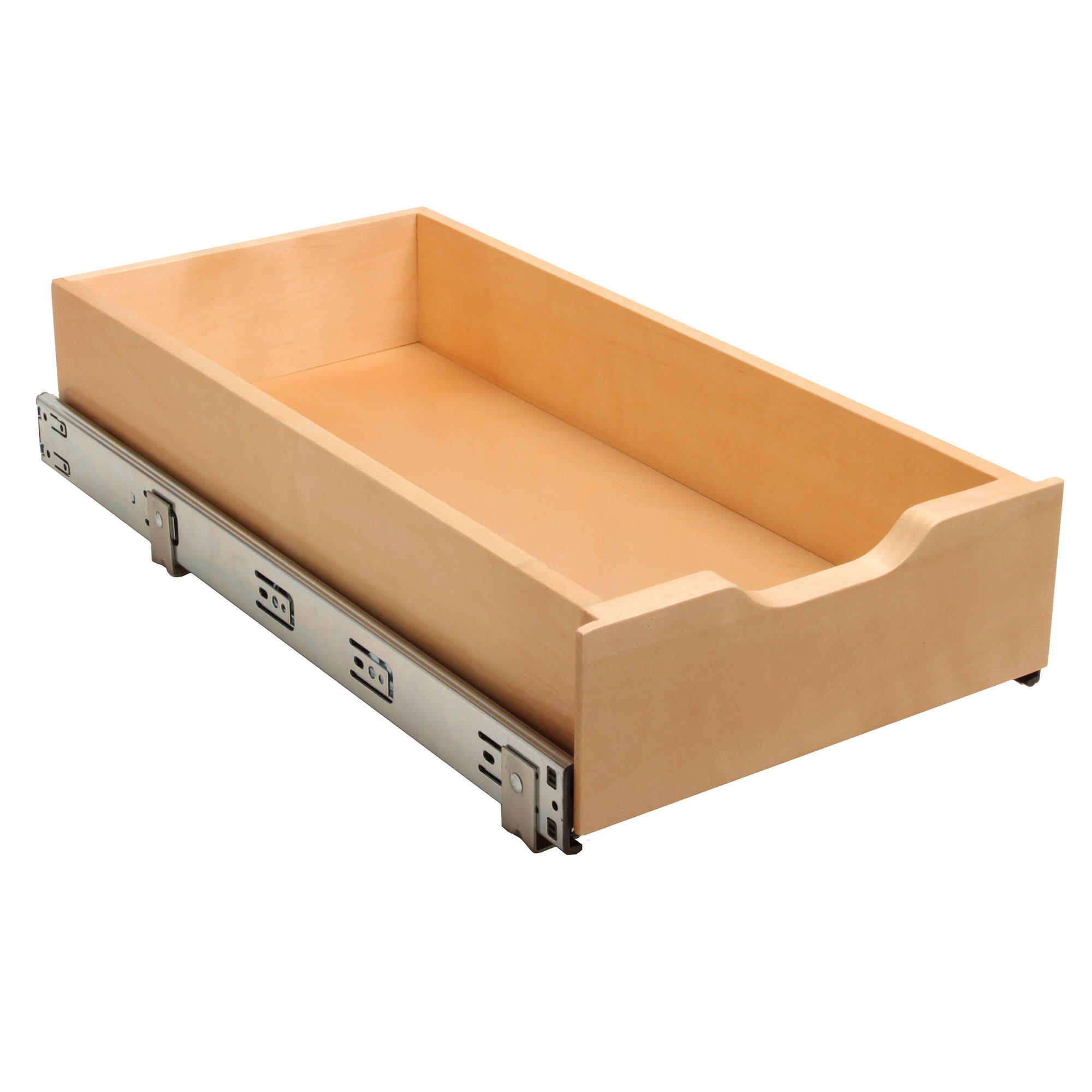 Knape vogt soft close wood drawer box wayfair for Bedroom furniture soft close drawers