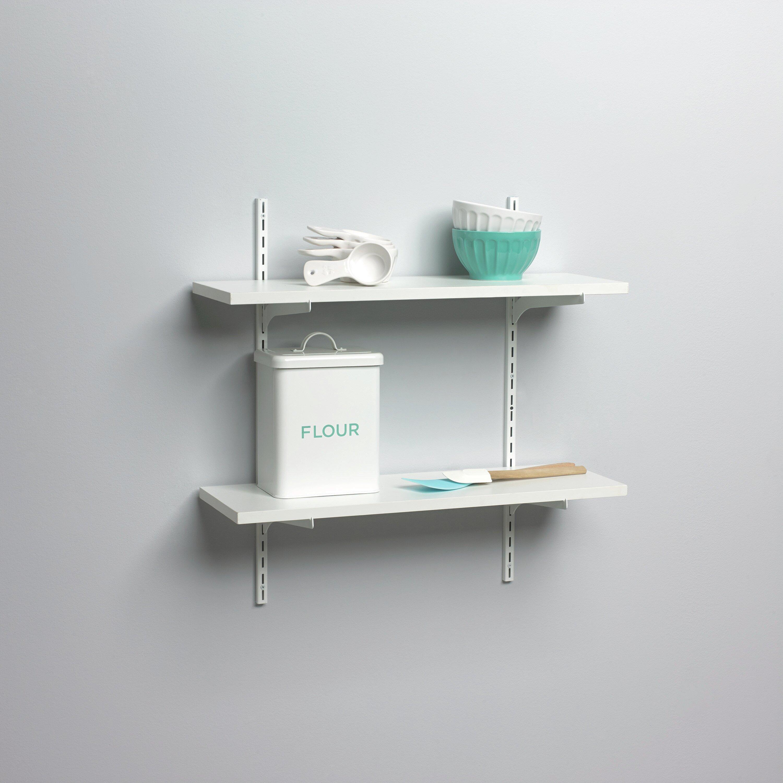knape vogt standard and bracket decorative shelf kit. Black Bedroom Furniture Sets. Home Design Ideas