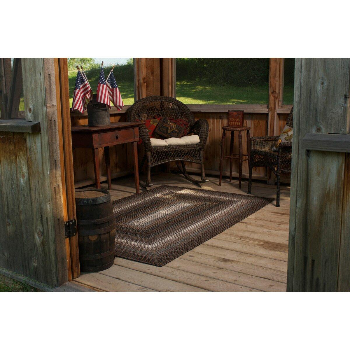 Homespice decor ultra durable driftwood indoor outdoor rug for Indoor outdoor decor
