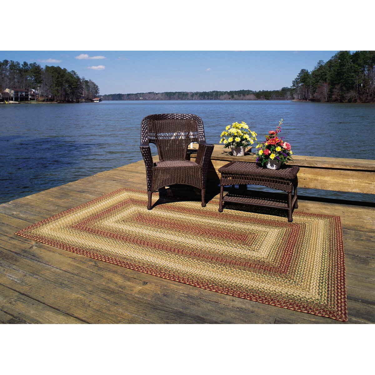 Garden Decor Nutty Rug: Homespice Decor Ultra-Durable Tuscany Indoor/Outdoor Rug