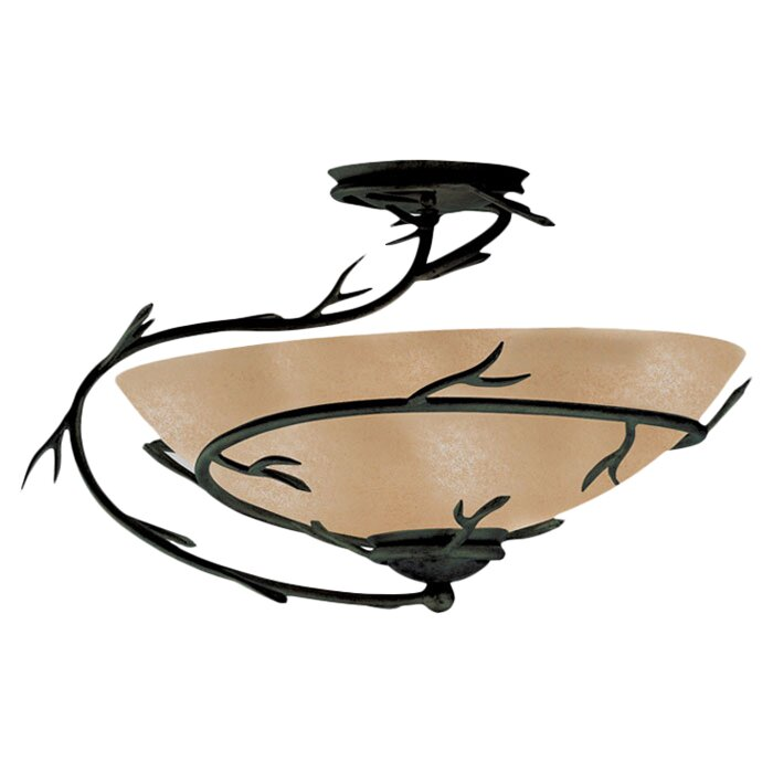 Ceiling Fans With Lights Reviews : Wildon home ? peony light semi flush mount or ceiling fan reviews wayfair