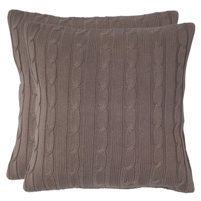 Wildon Home Cable Knit Wooden Button Closure Throw Pillow & Reviews Wayfair.ca