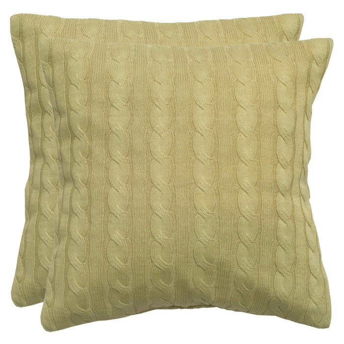 Wildon Home Cable Knit Wooden Button Closure Throw Pillow & Reviews Wayfair