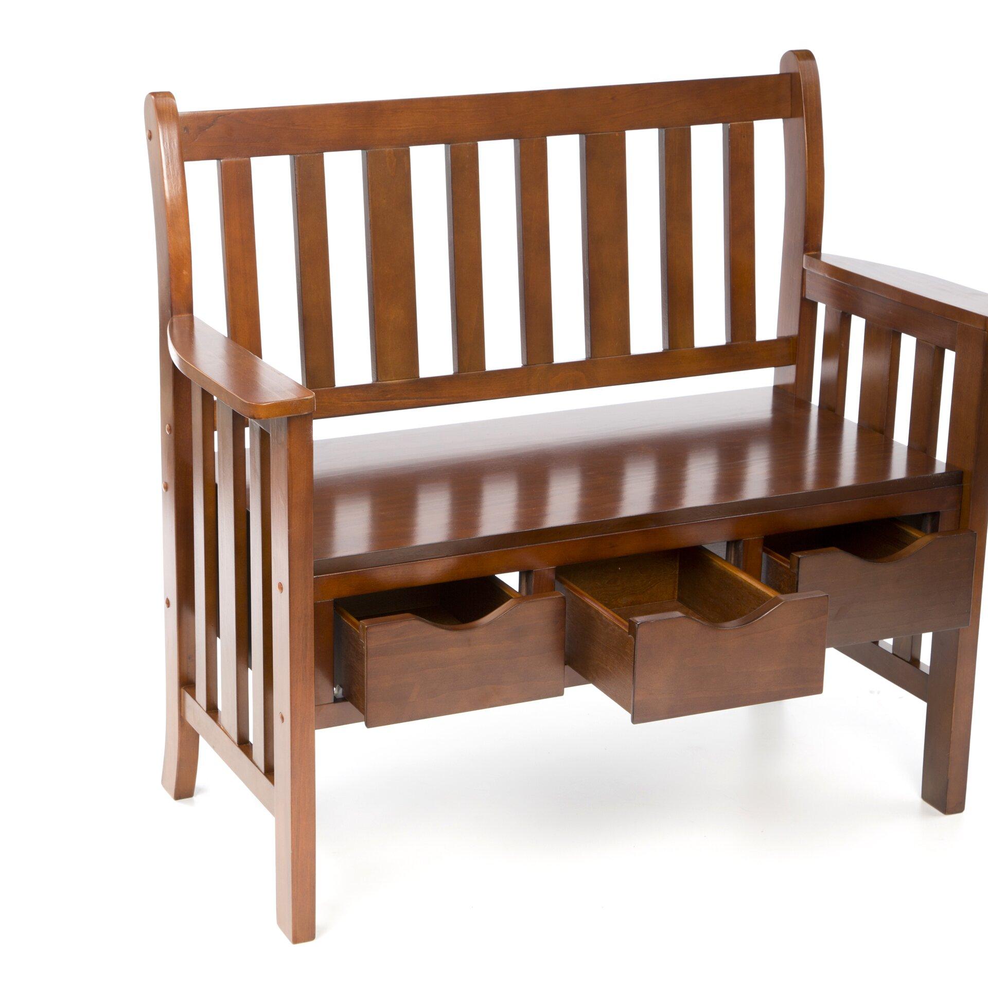 Foyer Bench Xl : Wildon home davidson storage wood entryway bench