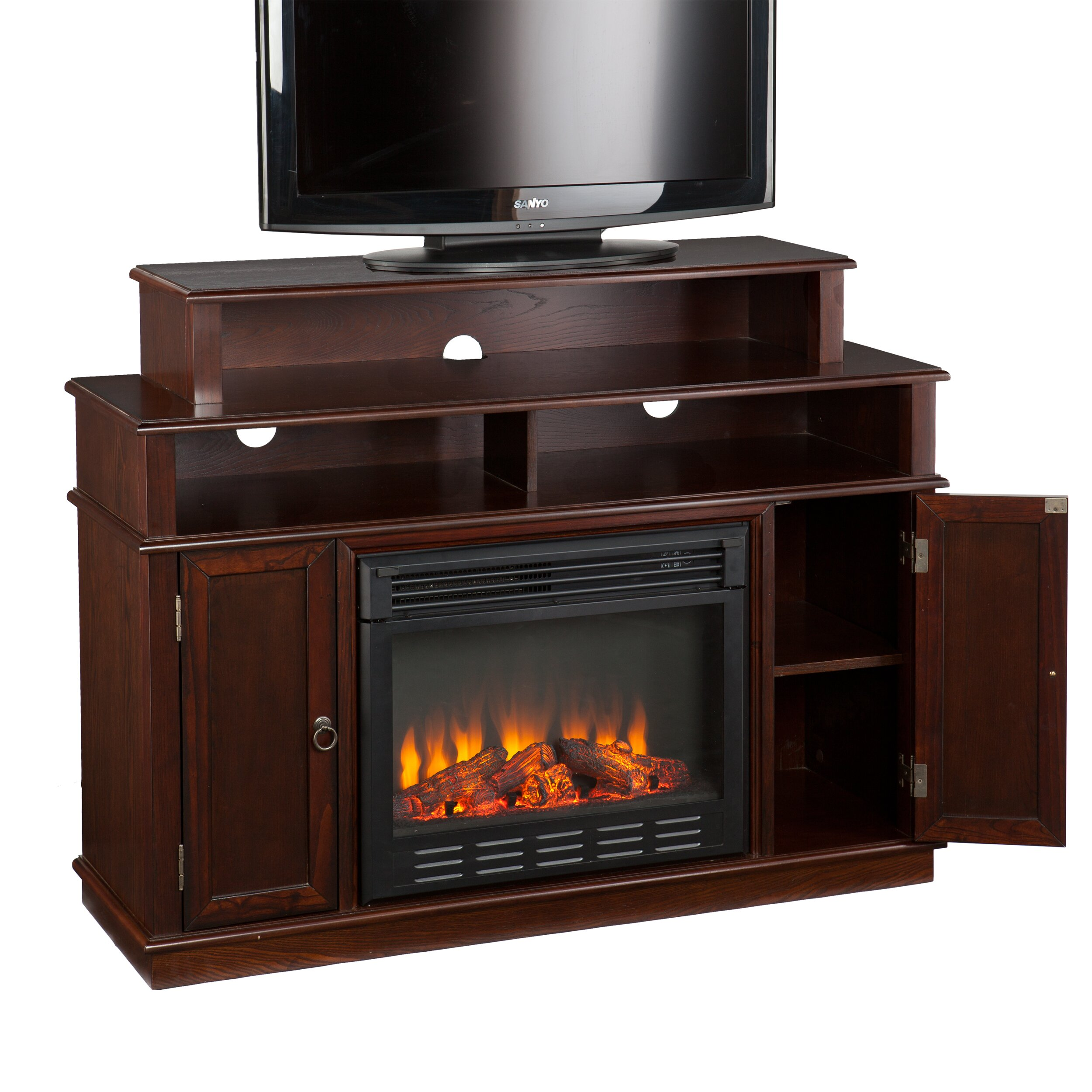 Wildon Home Lincoln Tv Stand With Electric Fireplace Reviews