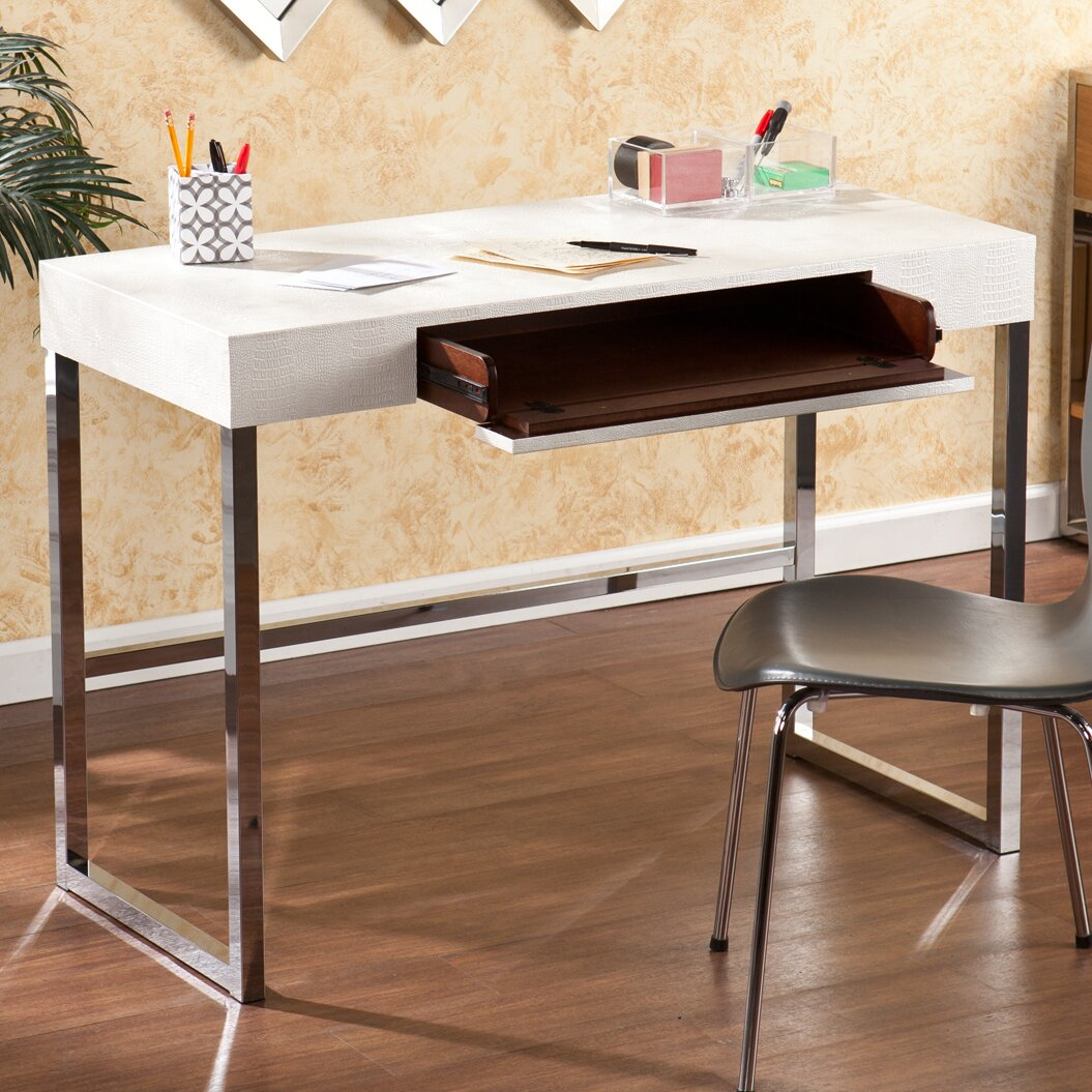 Wildon Home 174 Beckett Writing Desk With Keyboard Tray