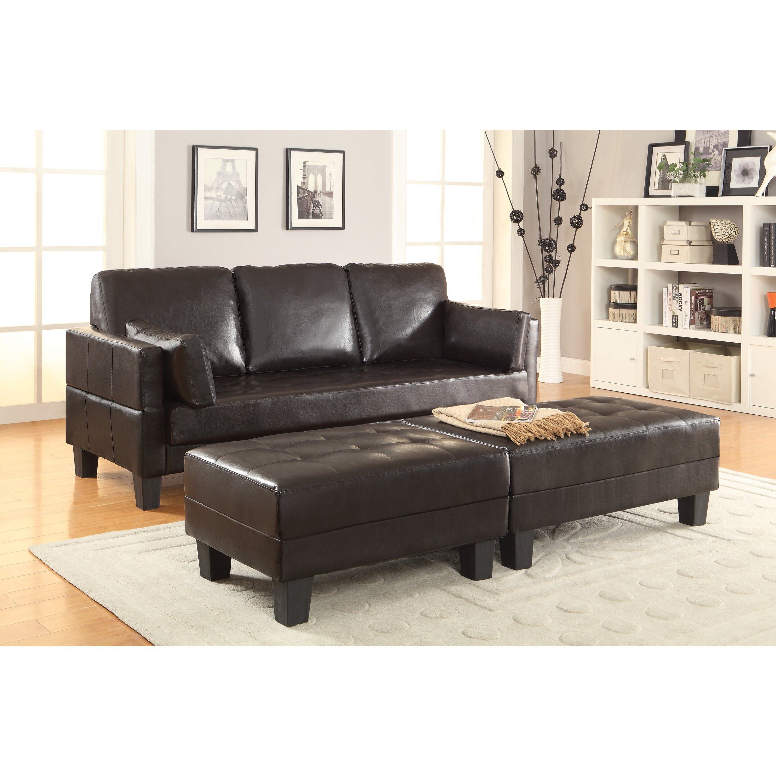 Wildon Home Sleeper Sofa 2 Ottomans Reviews Wayfair
