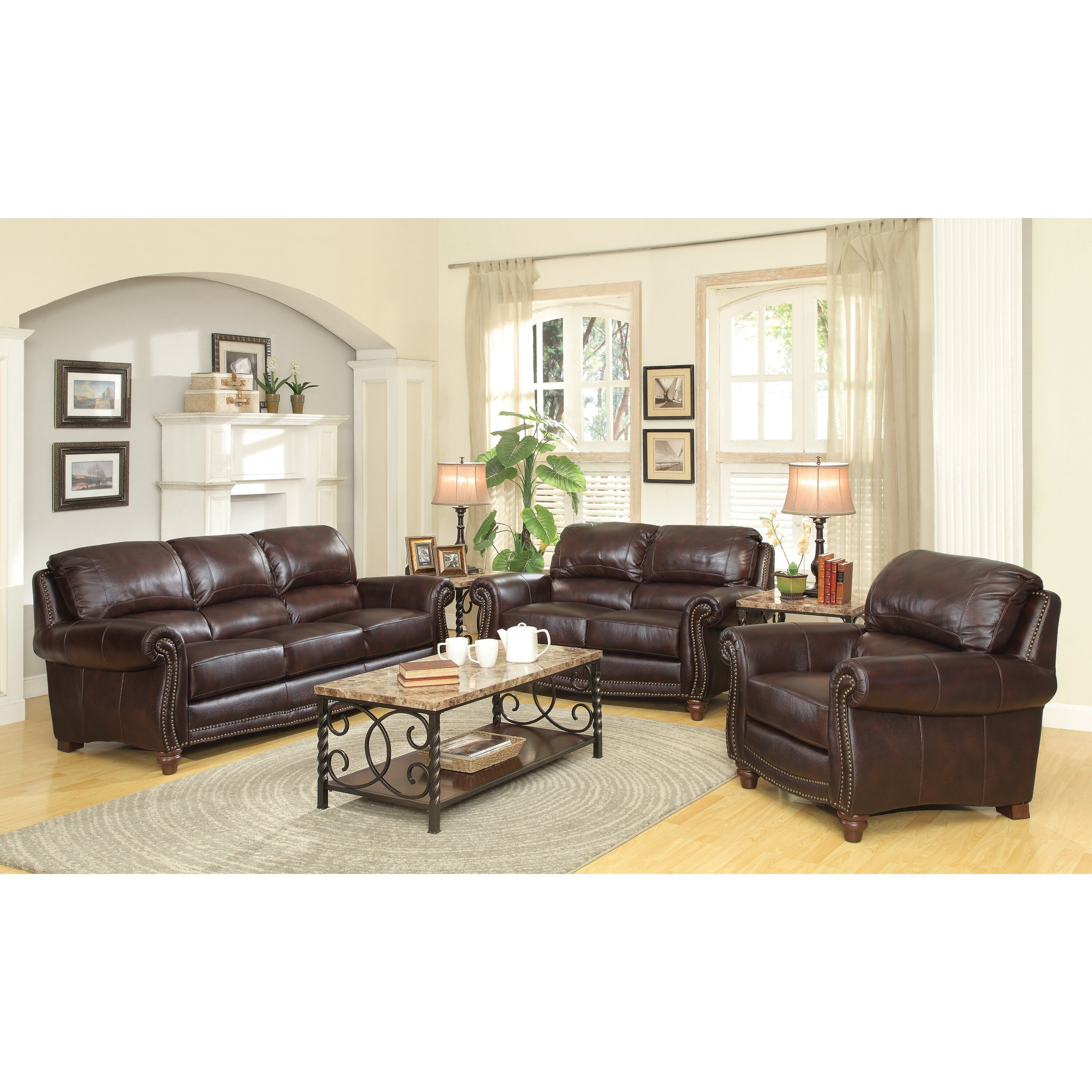 Wildon Home Leather Sofa Reviews Wayfair