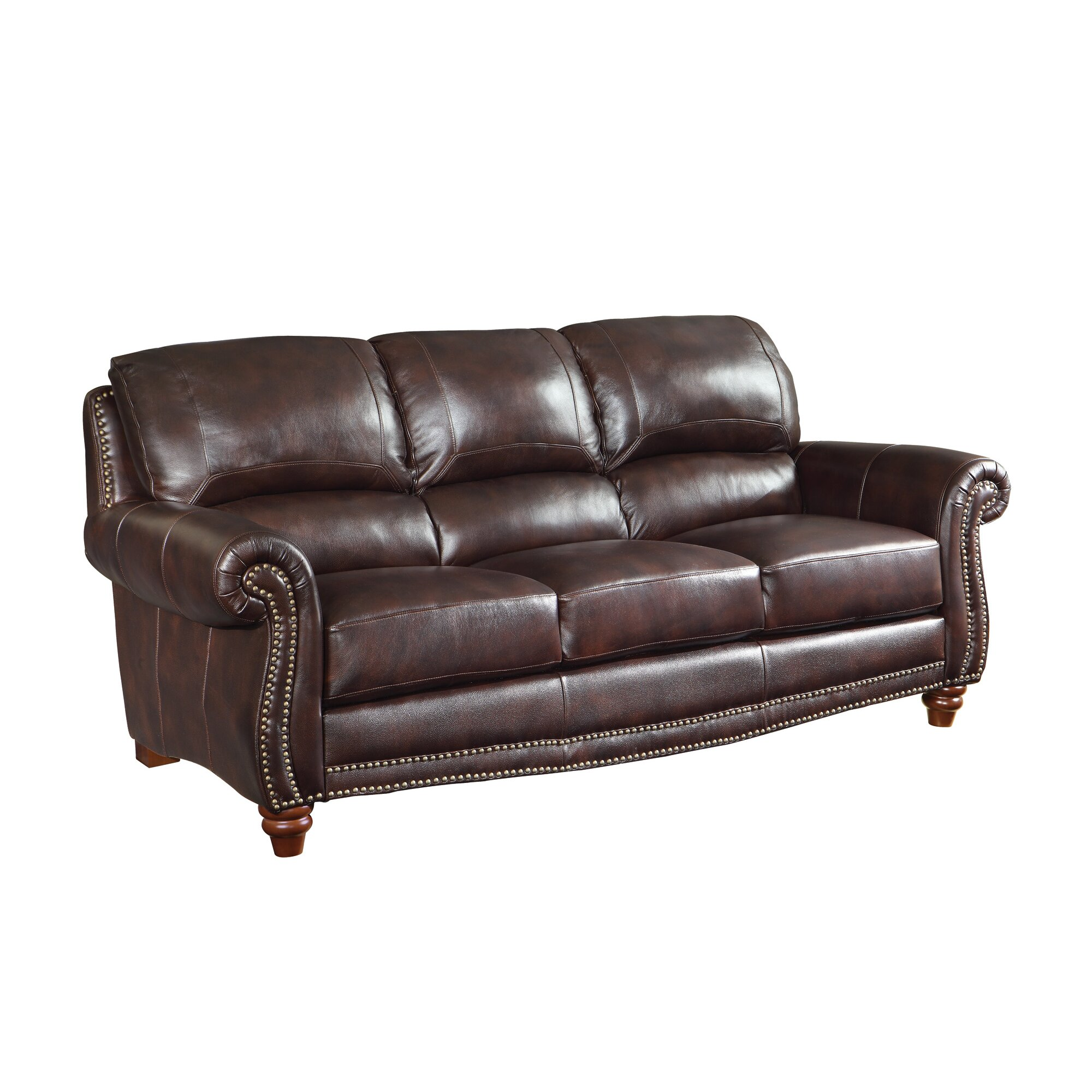 Wildon home leather sofa reviews wayfair