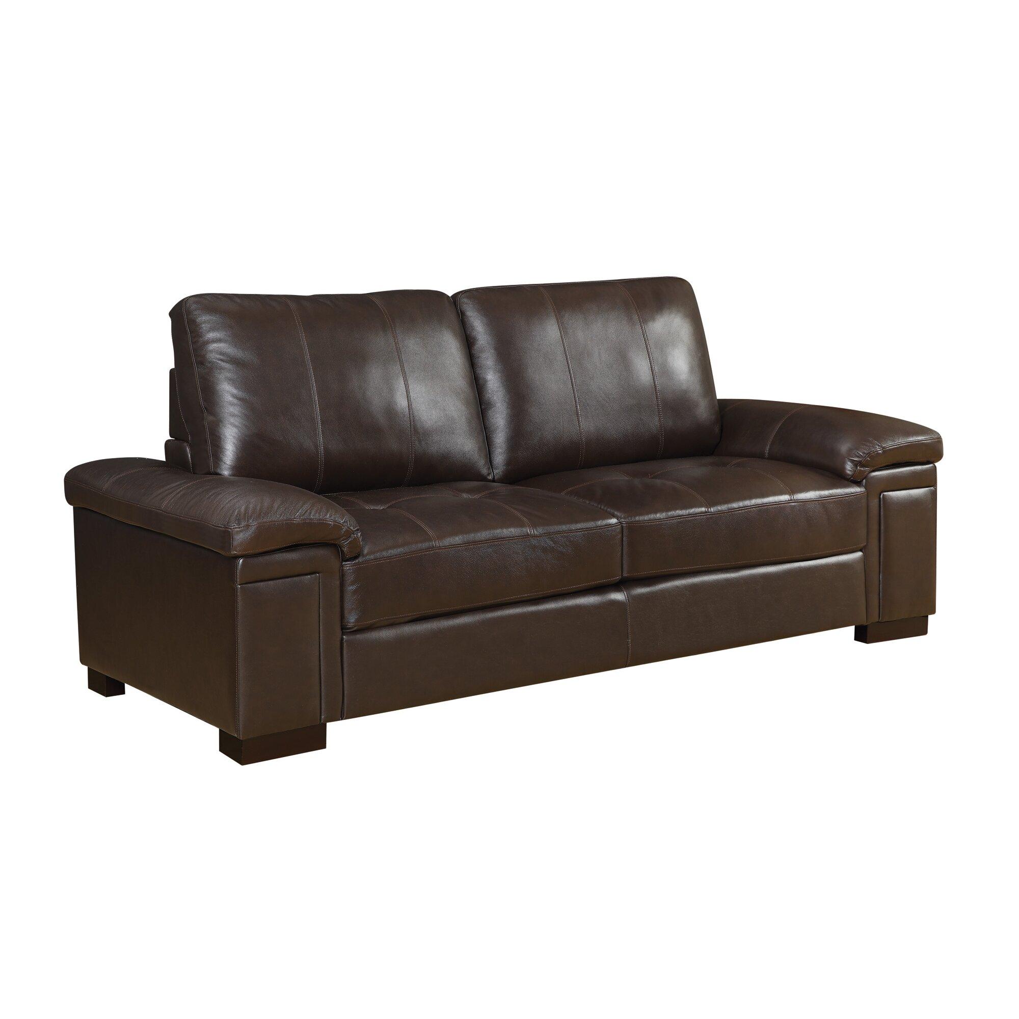 Wildon home r leather sofa reviews wayfair for Leather sectional sofa wayfair