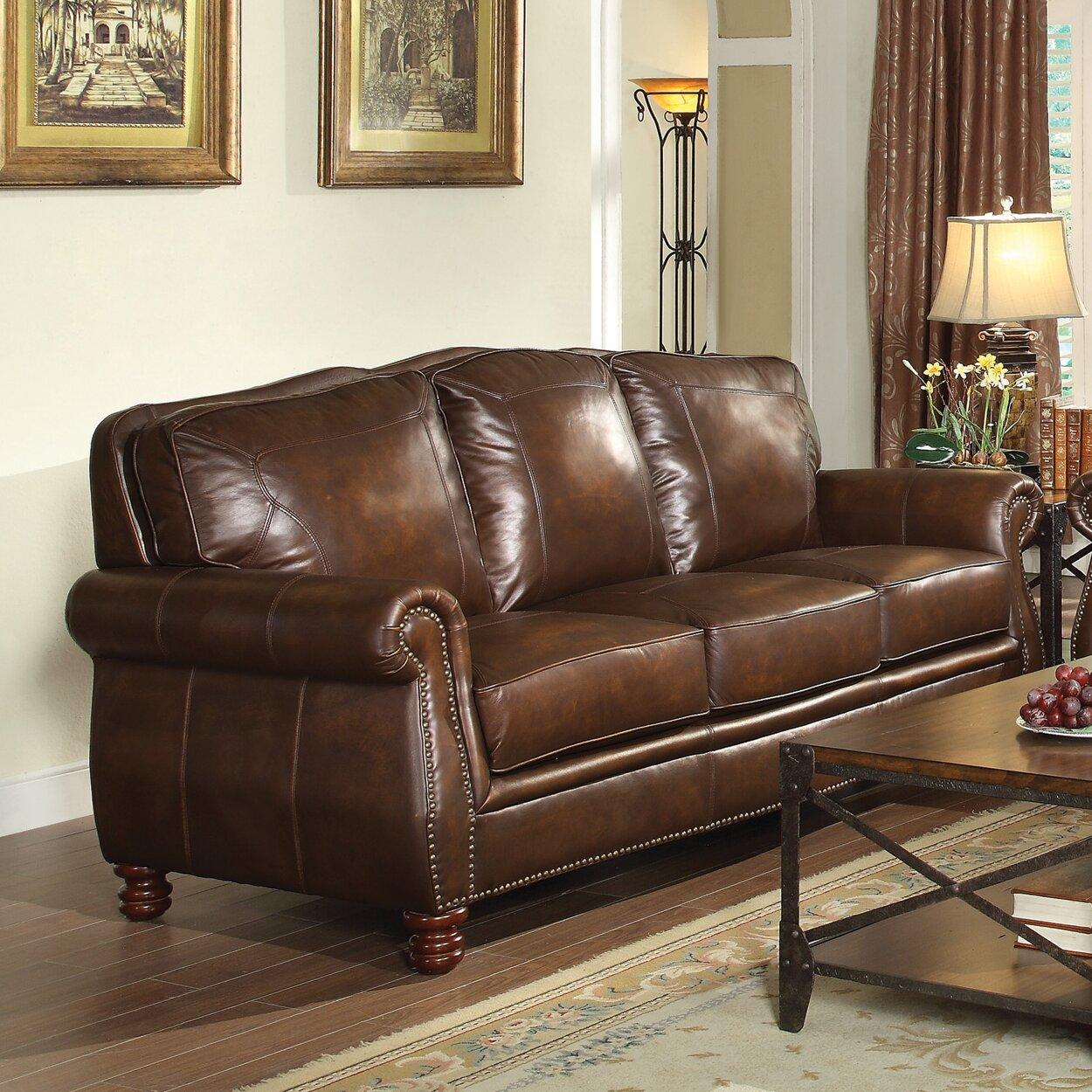 Rosalind wheeler walborn leather sofa reviews wayfair for Leather sectional sofa wayfair