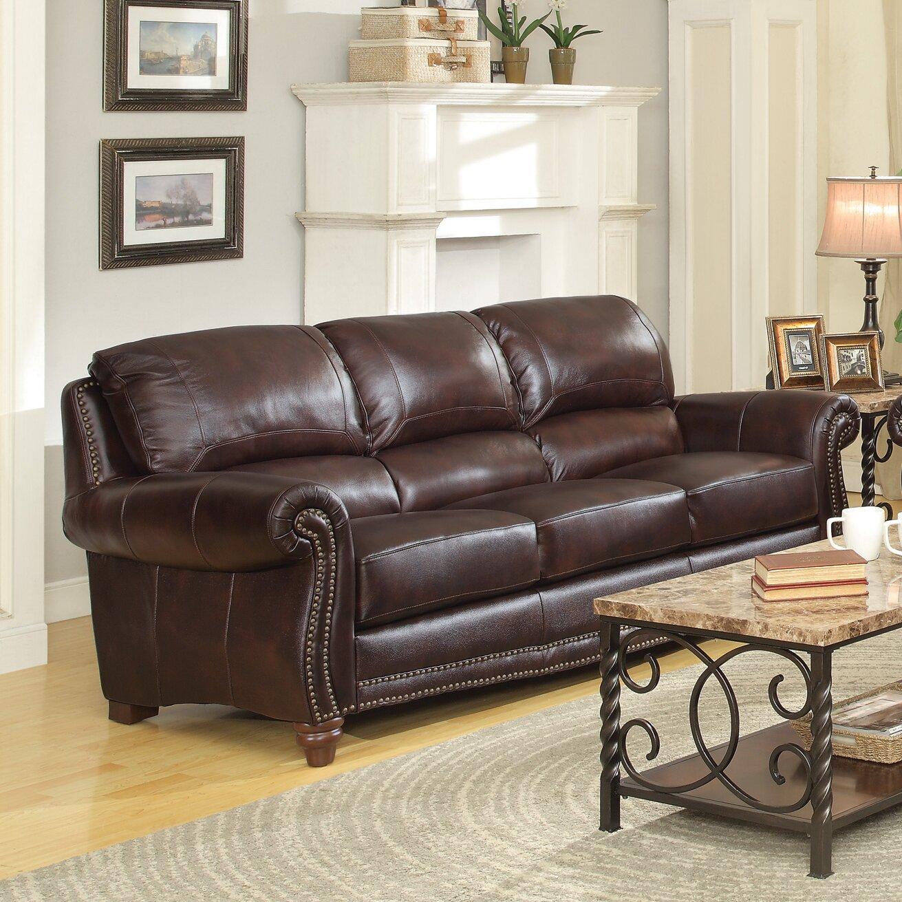 Wildon home leather sofa reviews wayfair for Leather sofa reviews