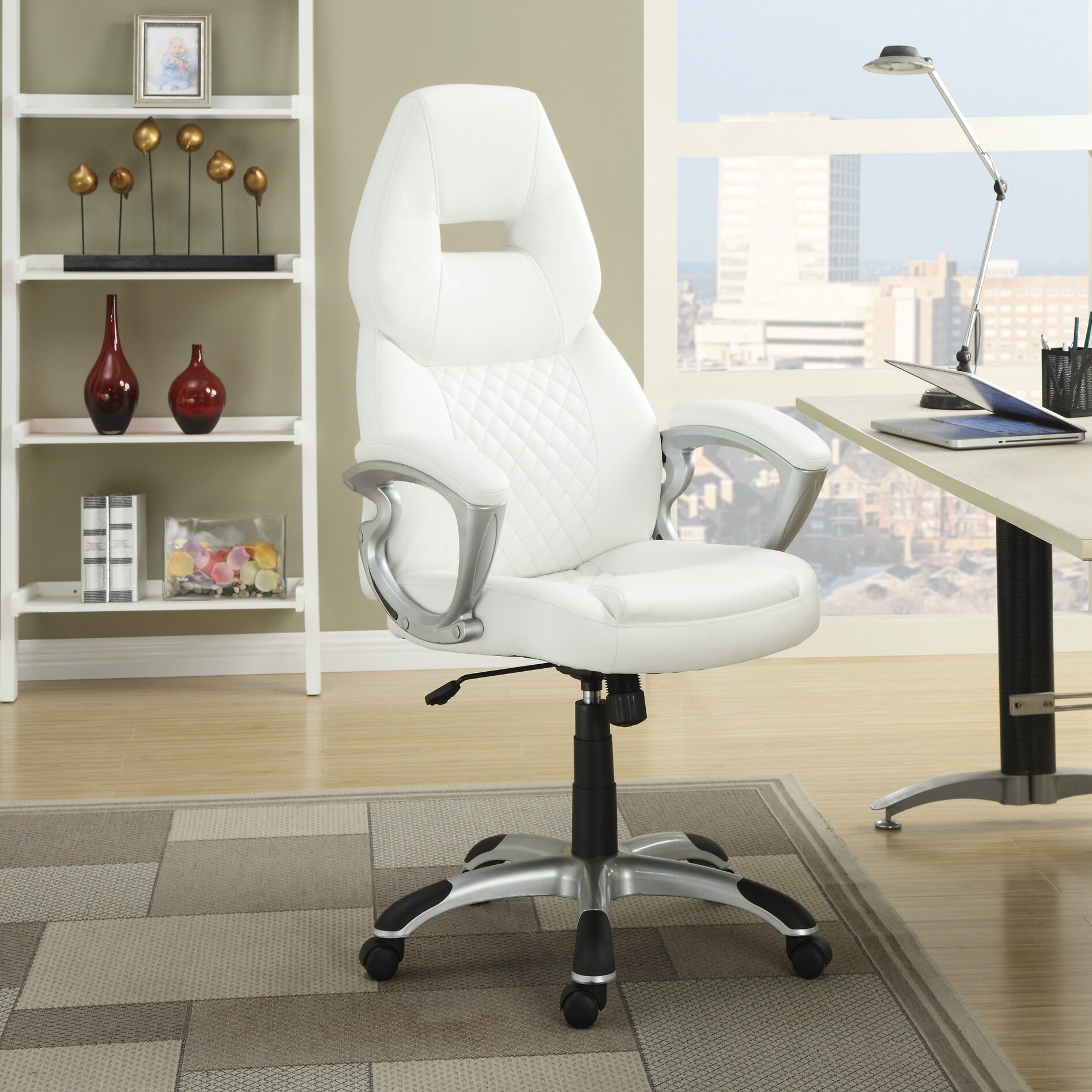 Wildon Home High Back Executive Managerial Chair With Arms Reviews Wayfair