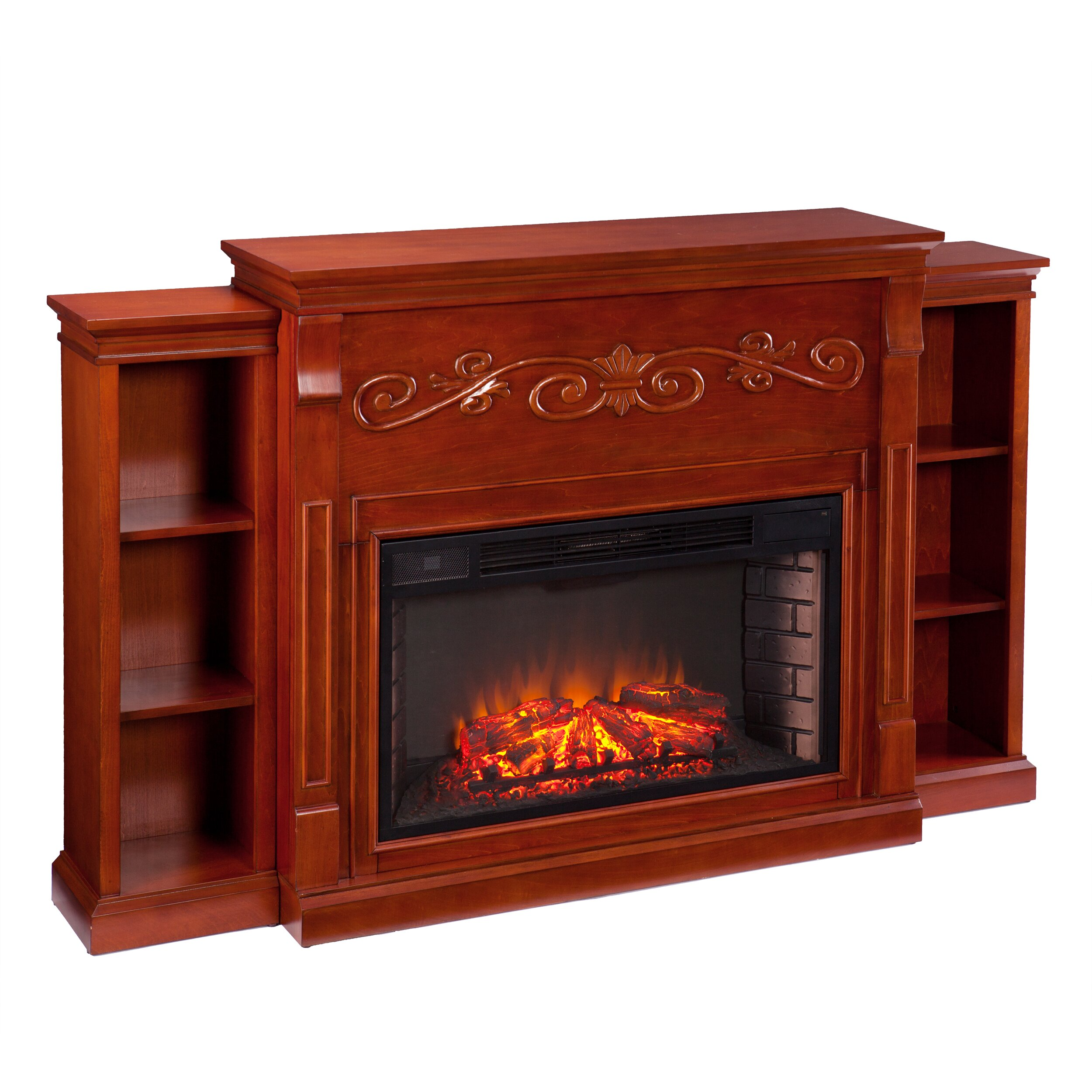 Wildon Home Langley Bookcase Electric Fireplace Reviews Wayfair
