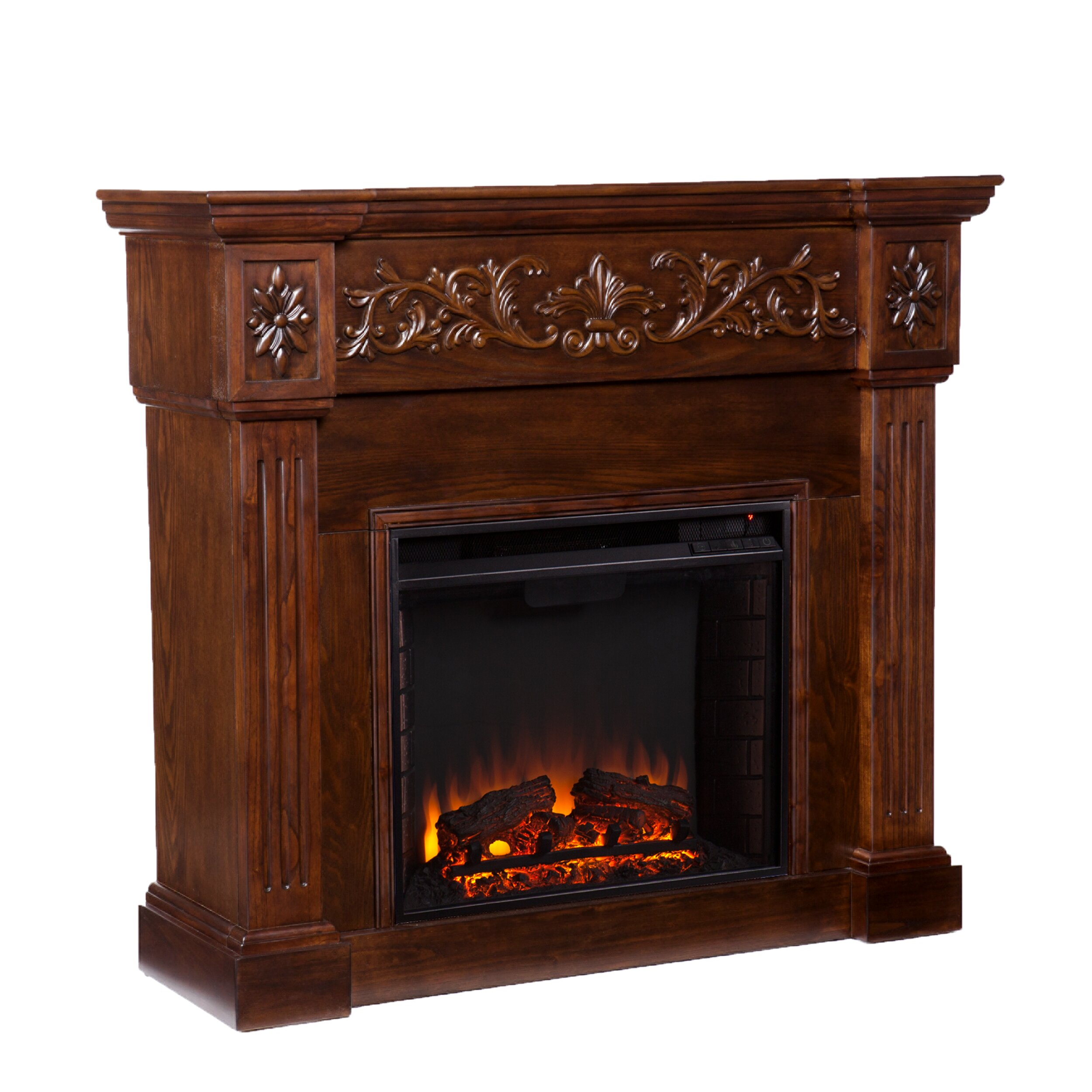 Wildon Home Oakley In Espresso Electric Fireplace Reviews Wayfair