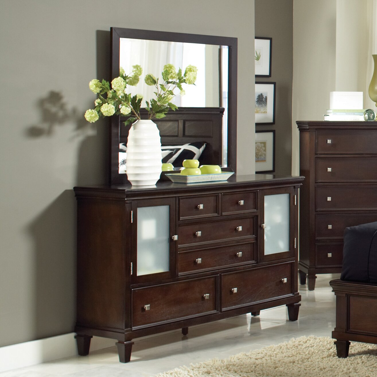 Wildon Home 6 Drawer Combo Dresser With Mirror Reviews