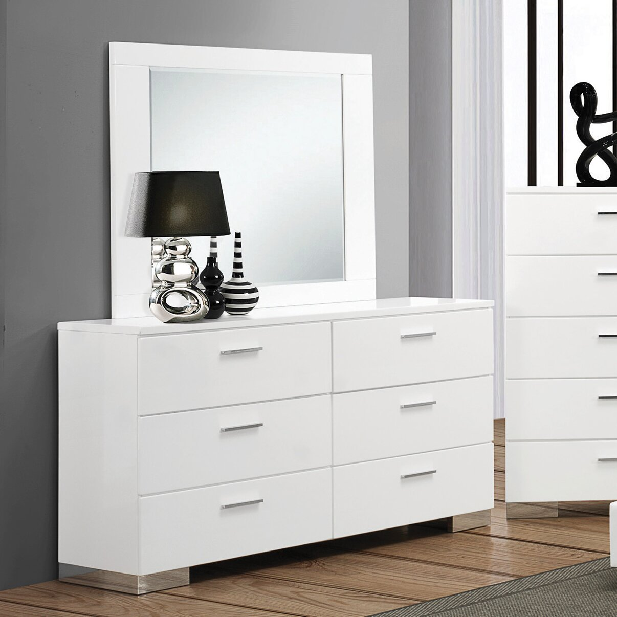 Wildon Home 6 Drawer Dresser With Mirror Reviews