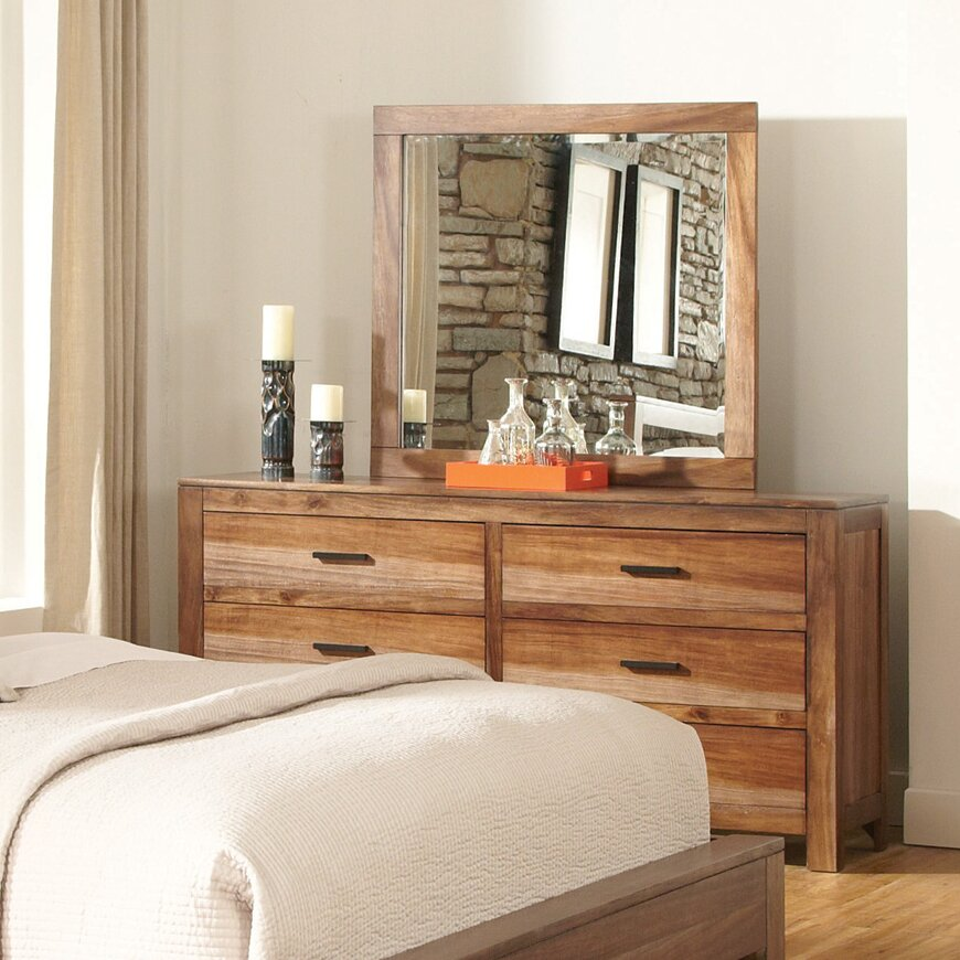 Wildon Home 6 Drawer Dresser With Mirror Reviews Wayfair