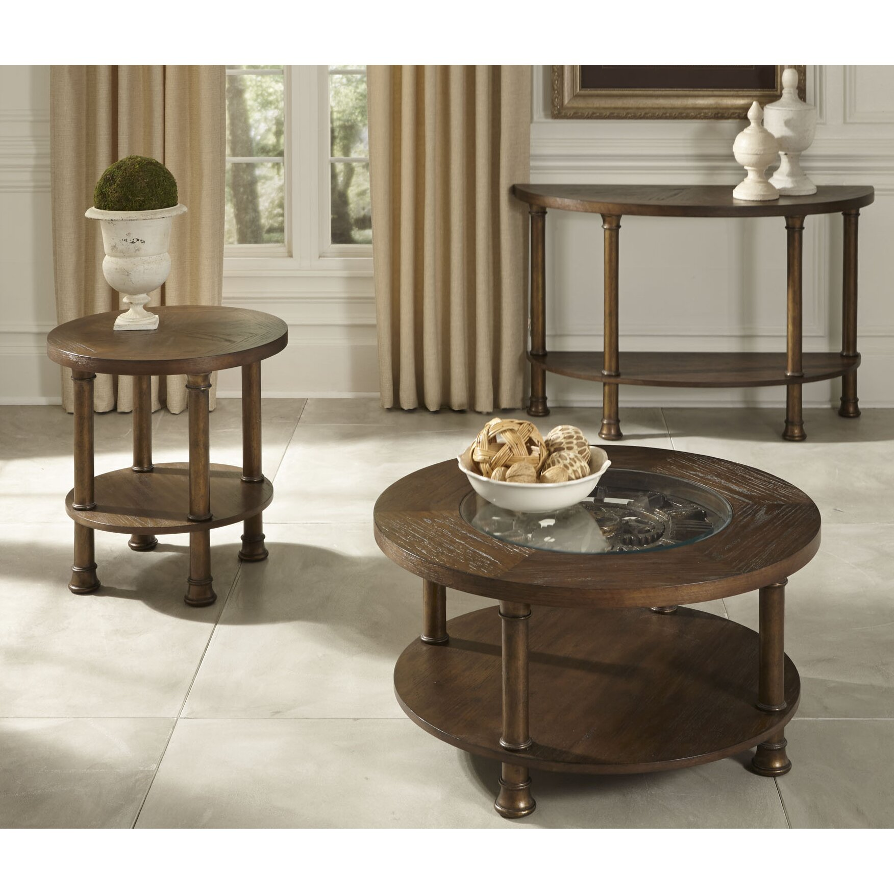 Wildon Home Clockworks Occasional Coffee Table Set Reviews