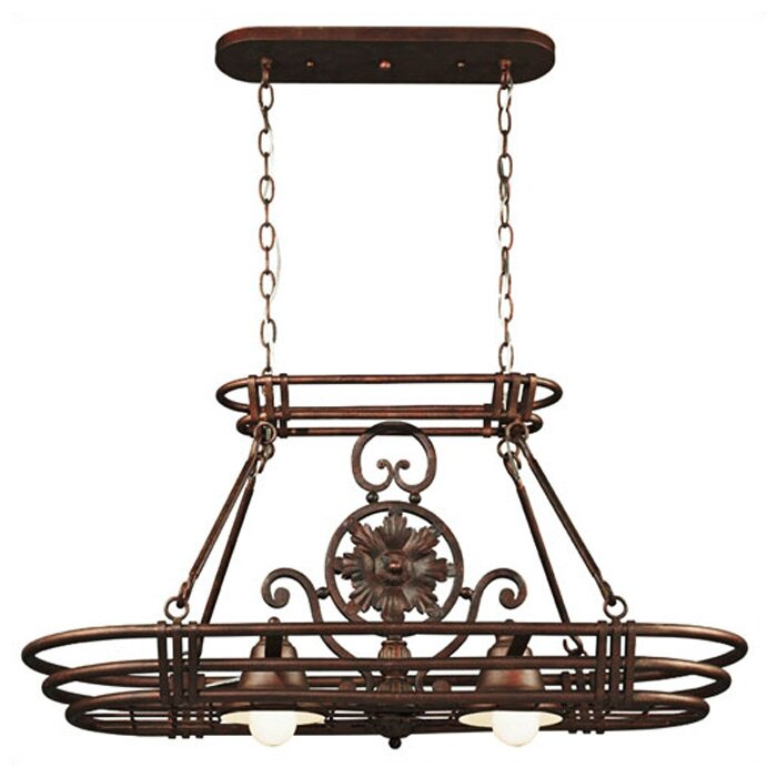 Wildon Home ® Dorada Lighted Hanging Pot Rack & Reviews ...