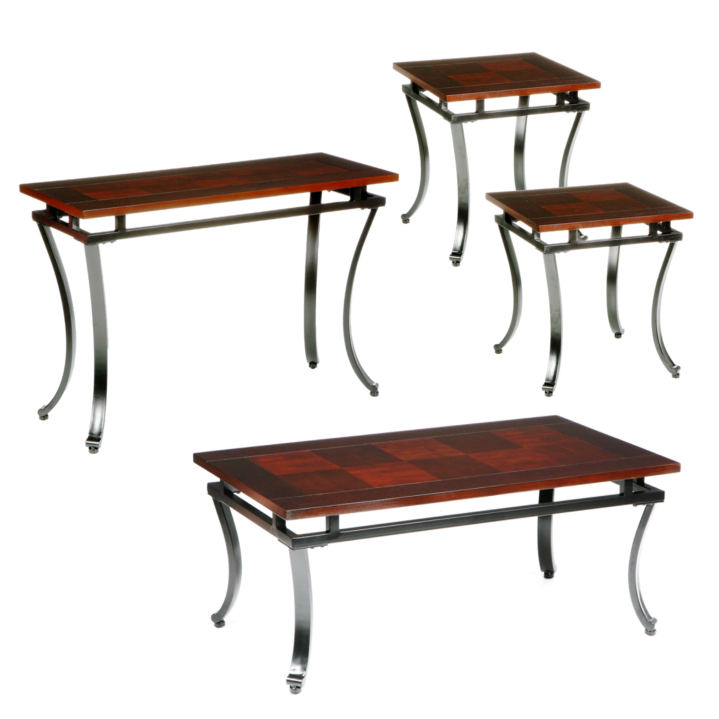 Wildon Home Gurley 4 Piece Coffee Table Set Reviews