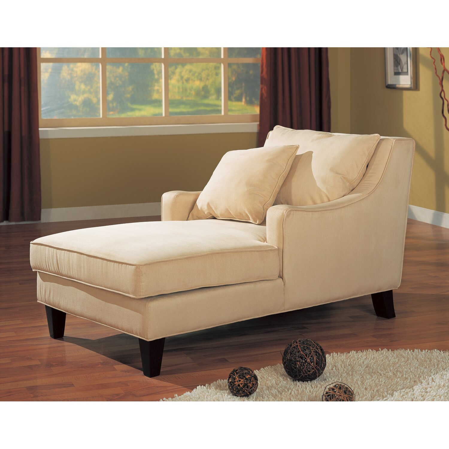 Wildon home sandy chaise reviews for Chaise lounge chair living room