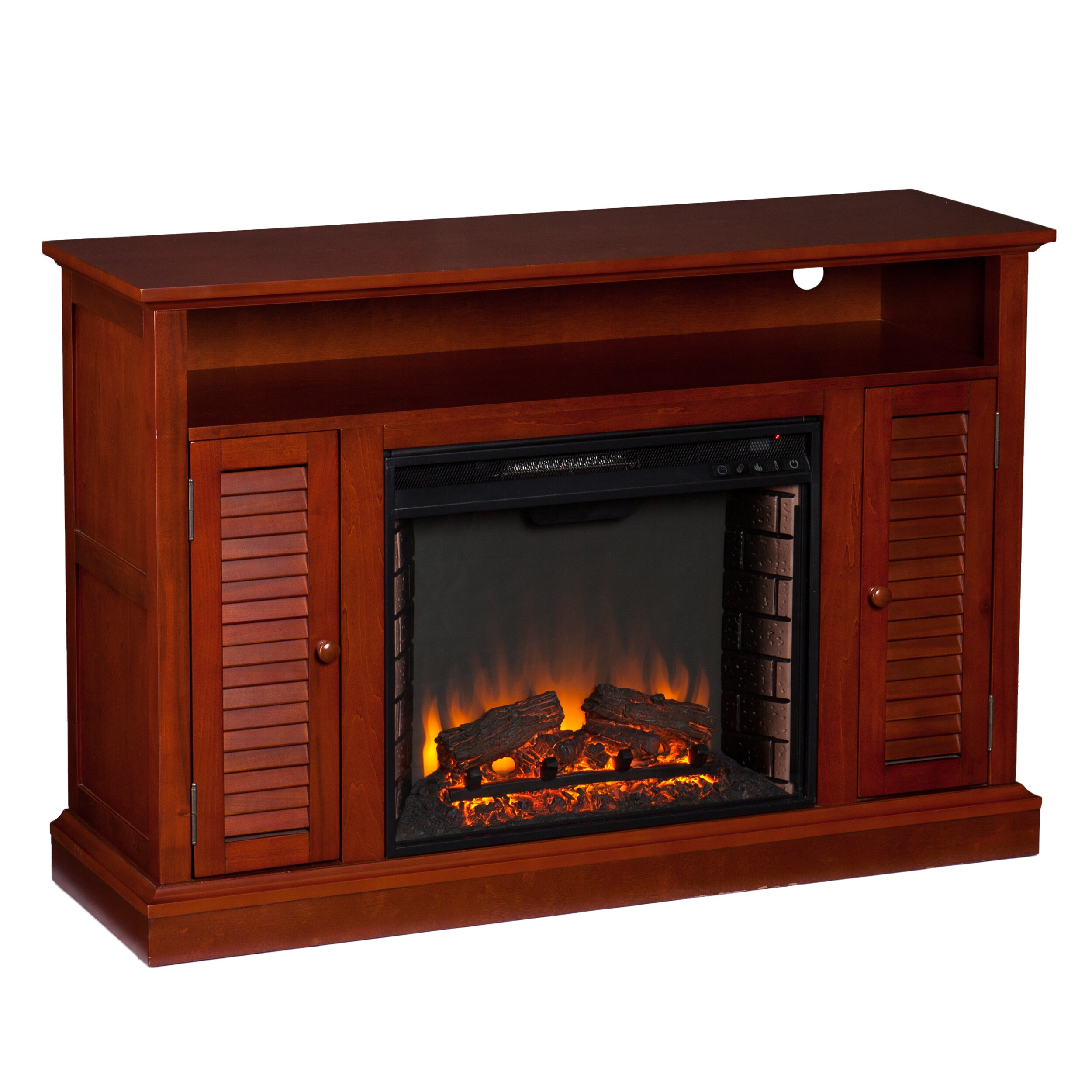 wildon home carron tv stand with electric fireplace reviews wayfair. Black Bedroom Furniture Sets. Home Design Ideas