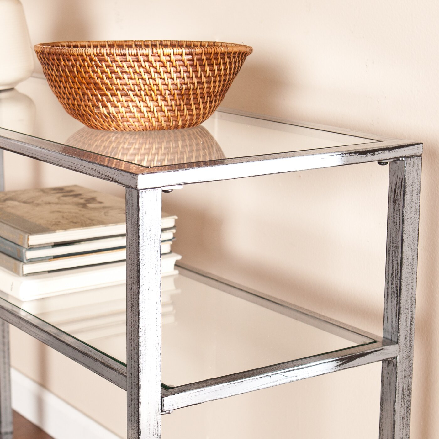 Wildon Home ® Haycock Console Table With Glass Top