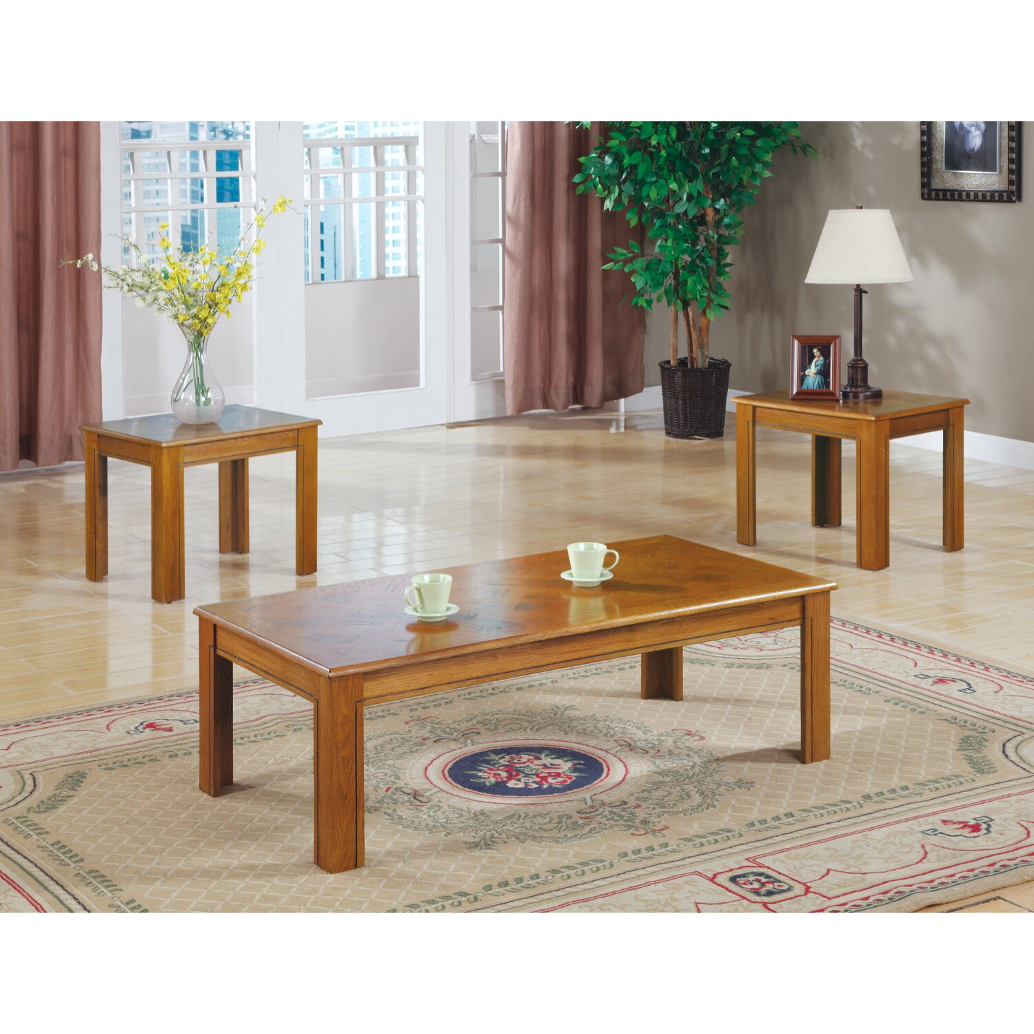 Wildon Home Junction City 3 Piece Coffee Table Set
