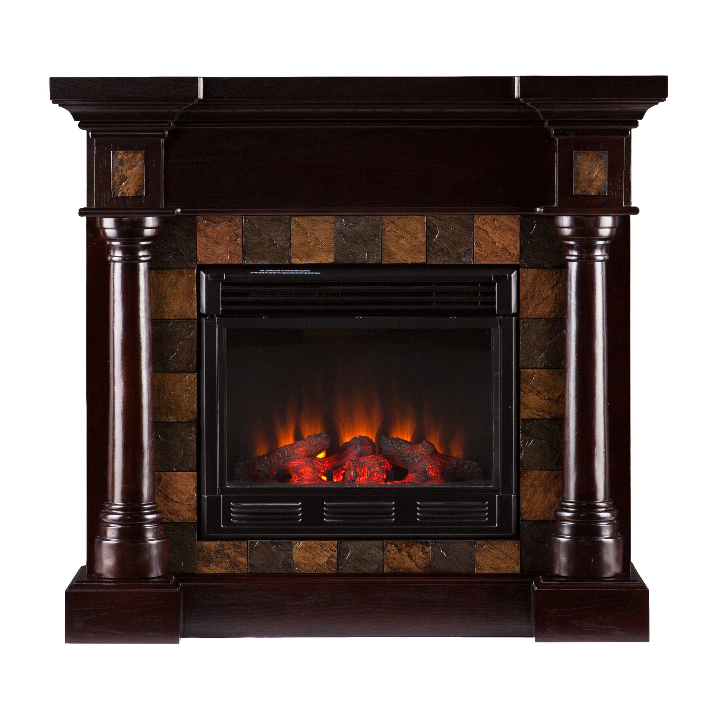 Wildon Home Clark Convertible Slate Electric Fireplace Reviews Wayfair