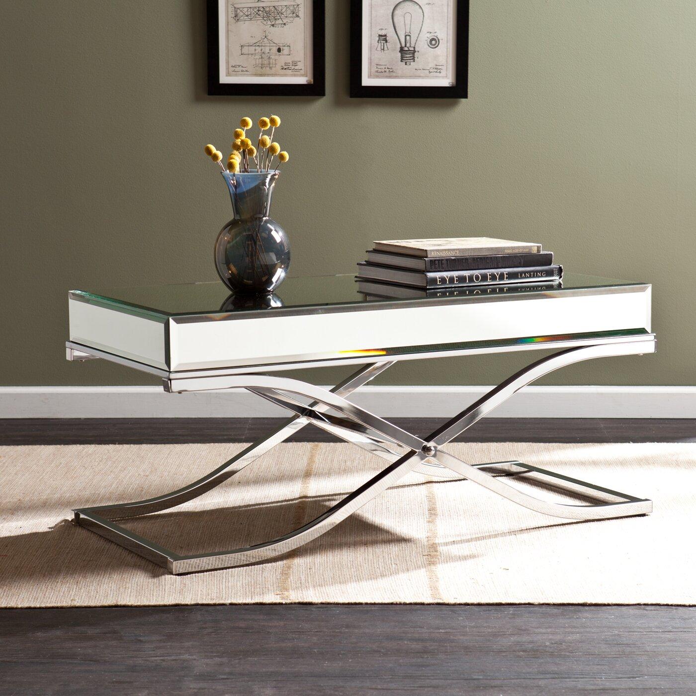 Wildon Home ® Caraman Mirrored Coffee Table & Reviews