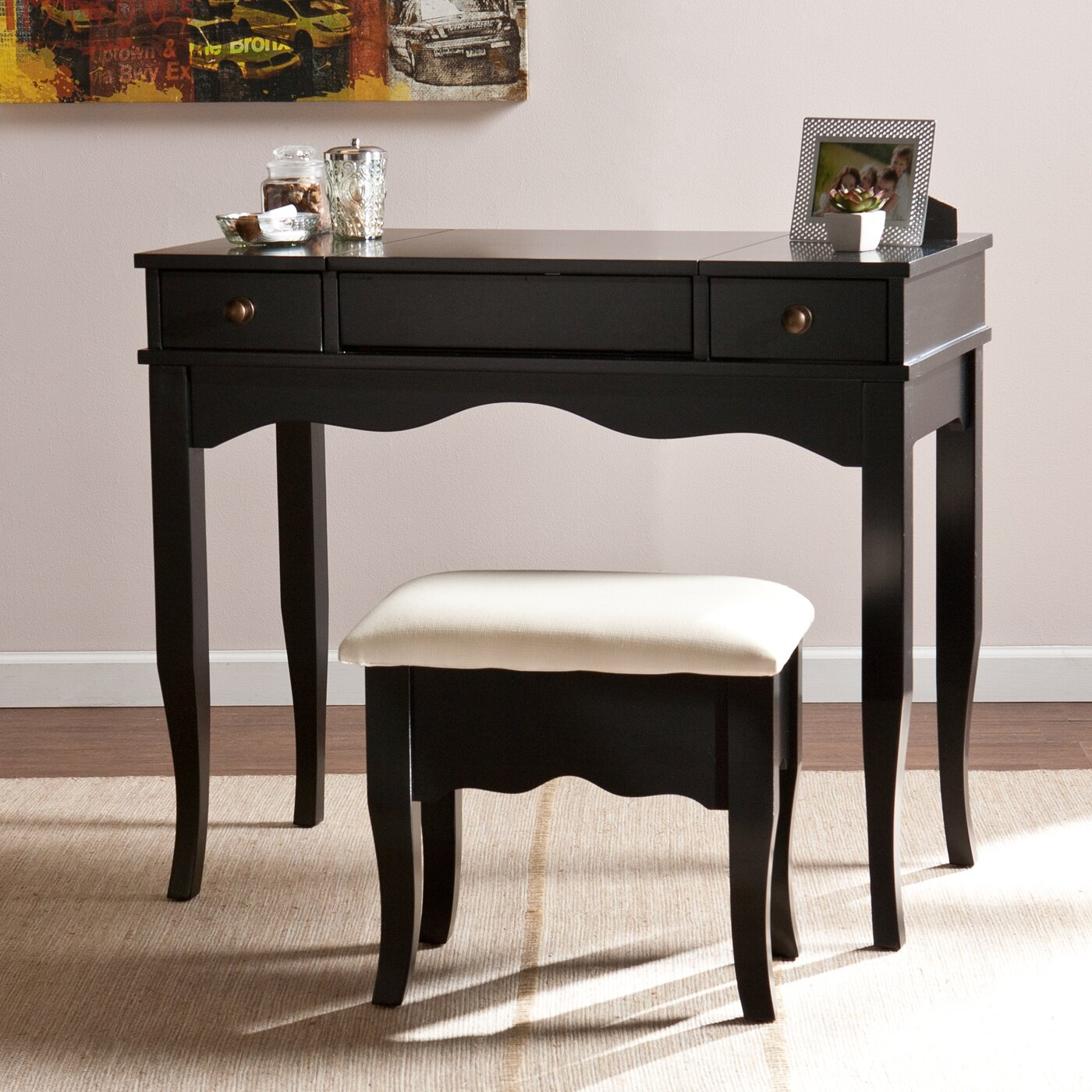 Wildon Home Brigette Vanity And Bench Set Reviews Wayfair