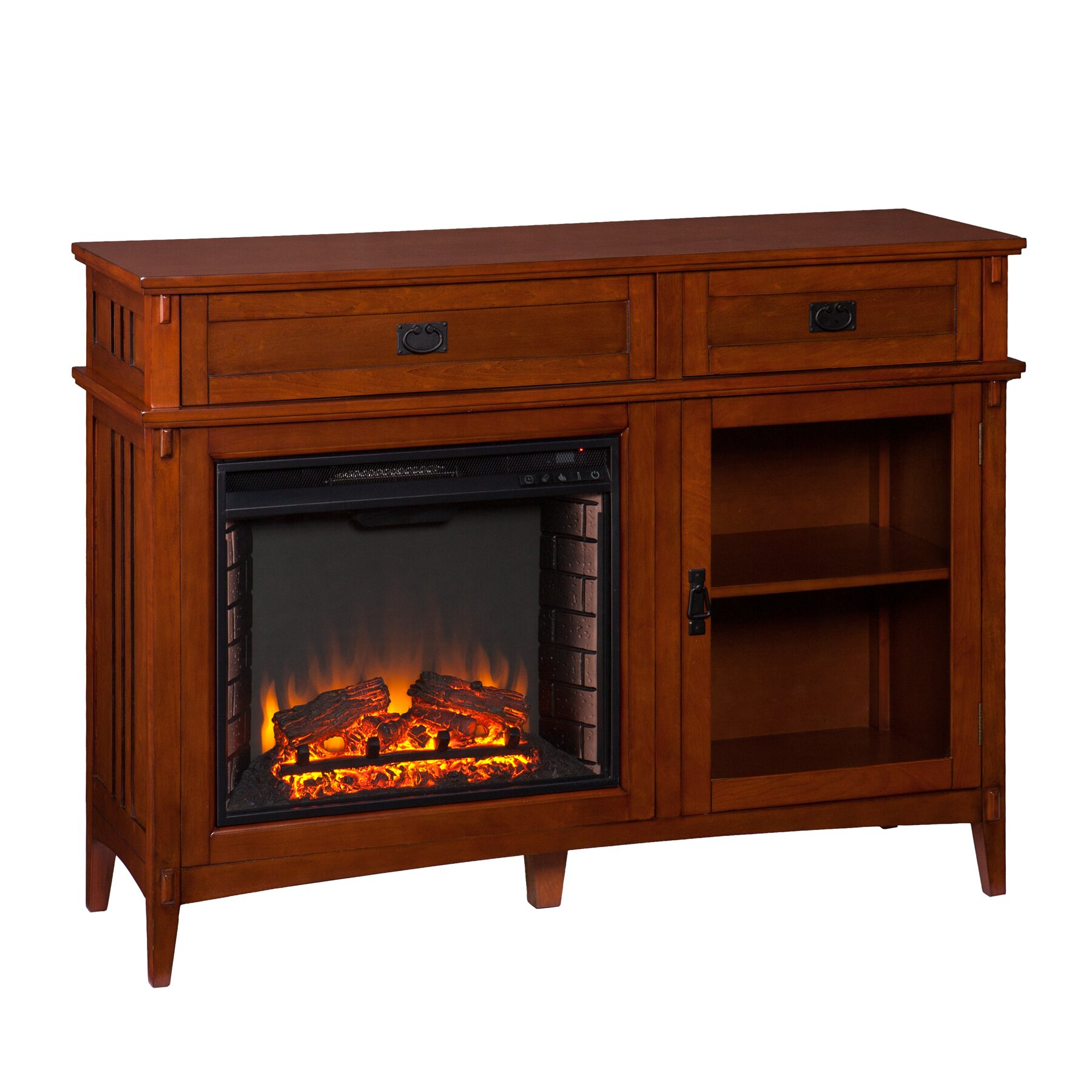 Wildon Home 174 Hicks Console Electric Fireplace Amp Reviews