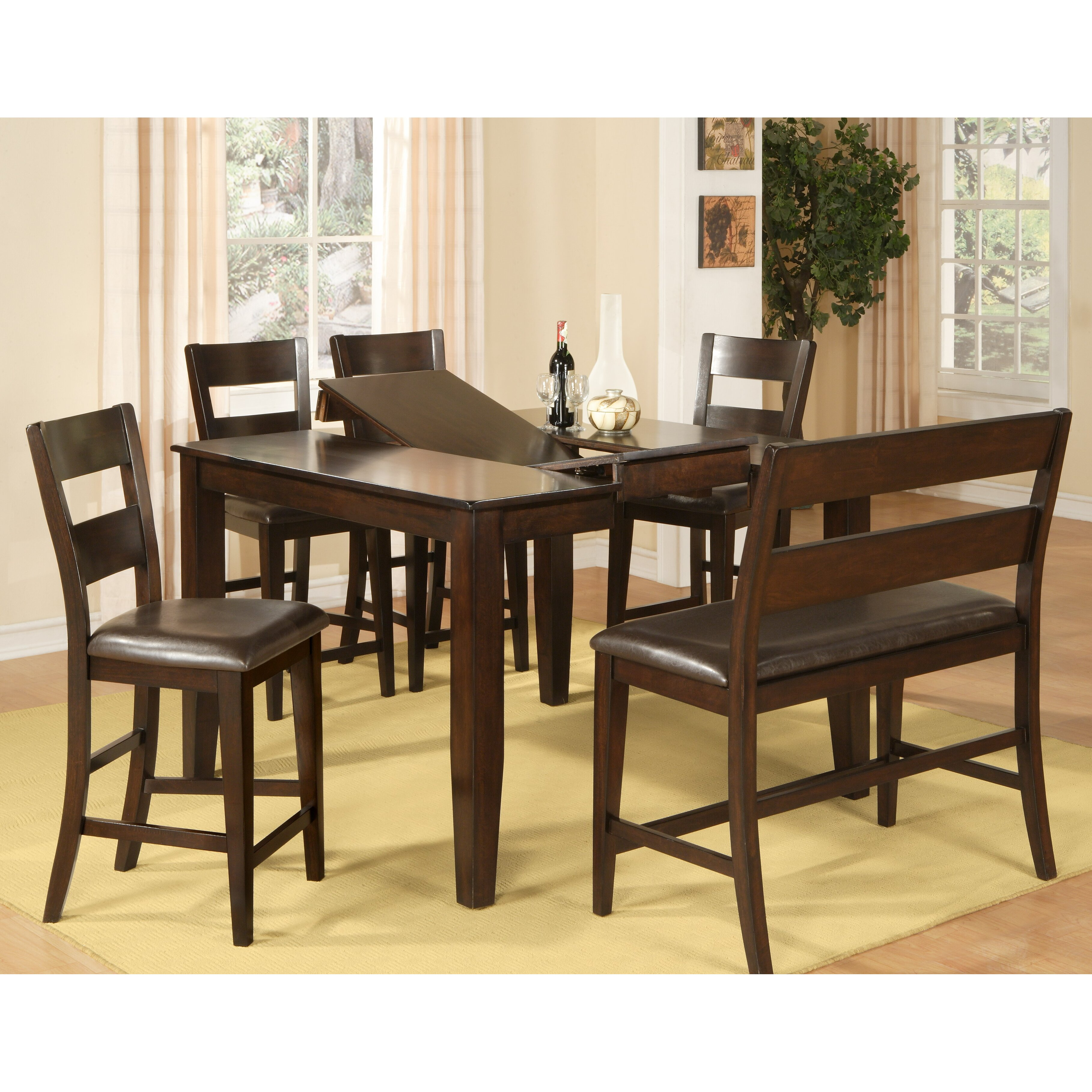 Wildon home counter height dining table reviews wayfair for Wildon home dining