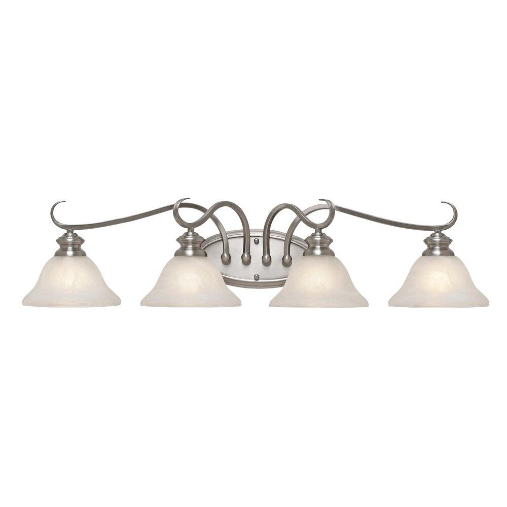 Bathroom Vanity Lights Reviews : Wildon Home Alberta 4 Light Bath Vanity Light & Reviews Wayfair