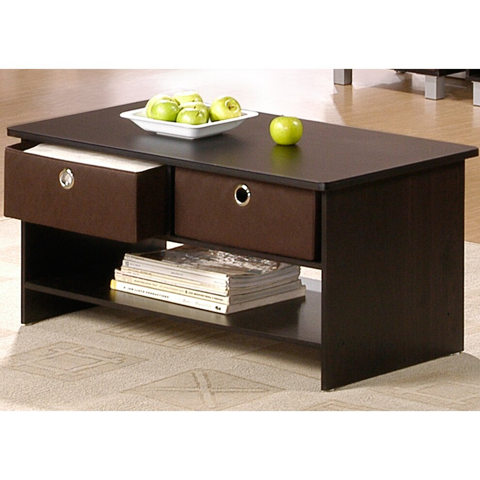 Coffee Table With Drawers: Wildon Home ® Furinno Coffee Table & Reviews