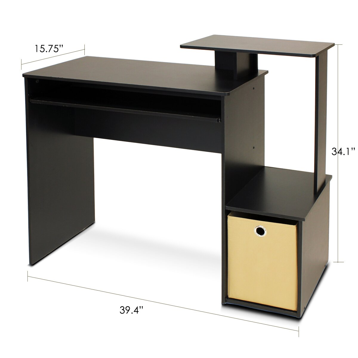 Wildon home home office computer desk reviews wayfair for Computer office desks home