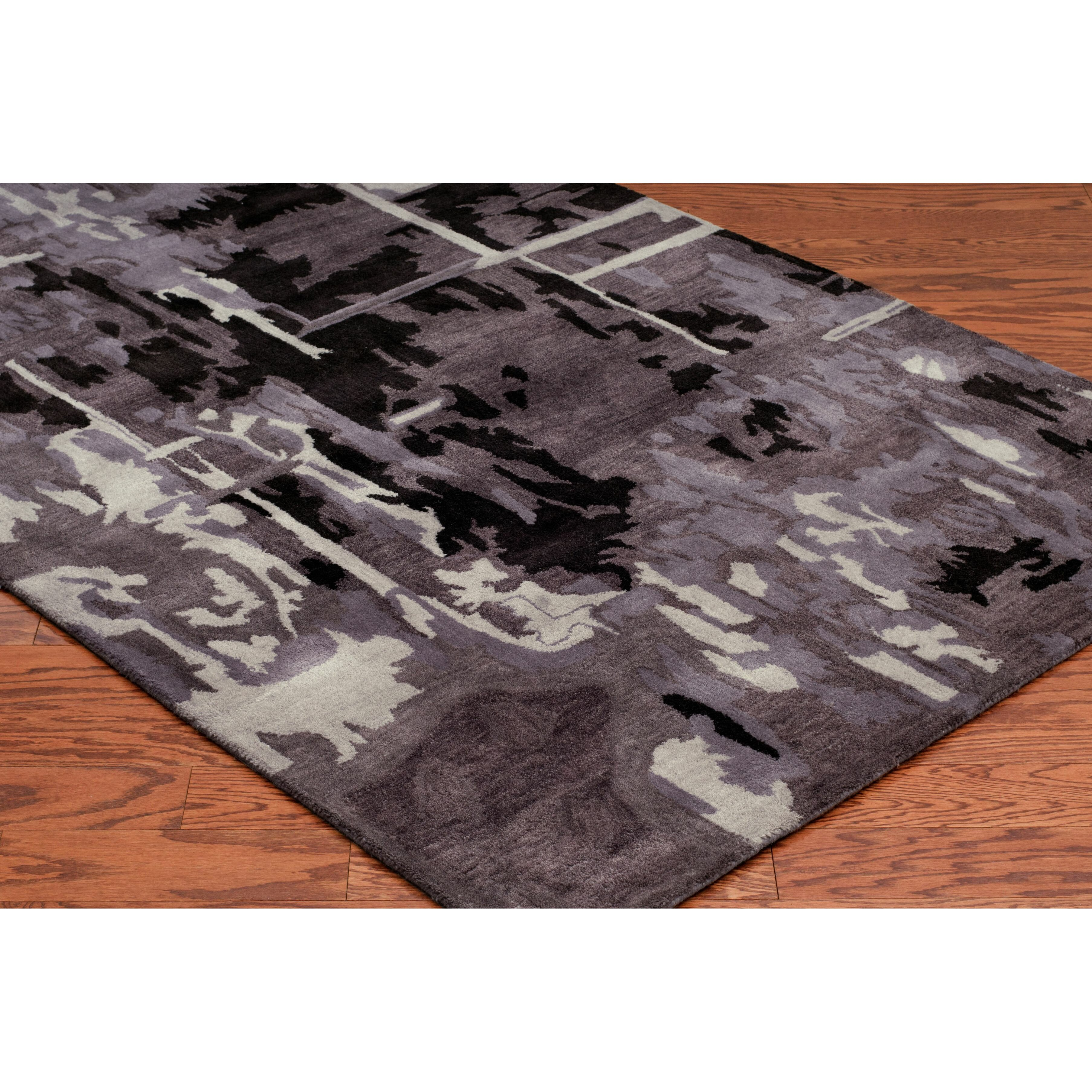 Meridian Rugmakers Canaveral Hand Tufted Plum Area Rug