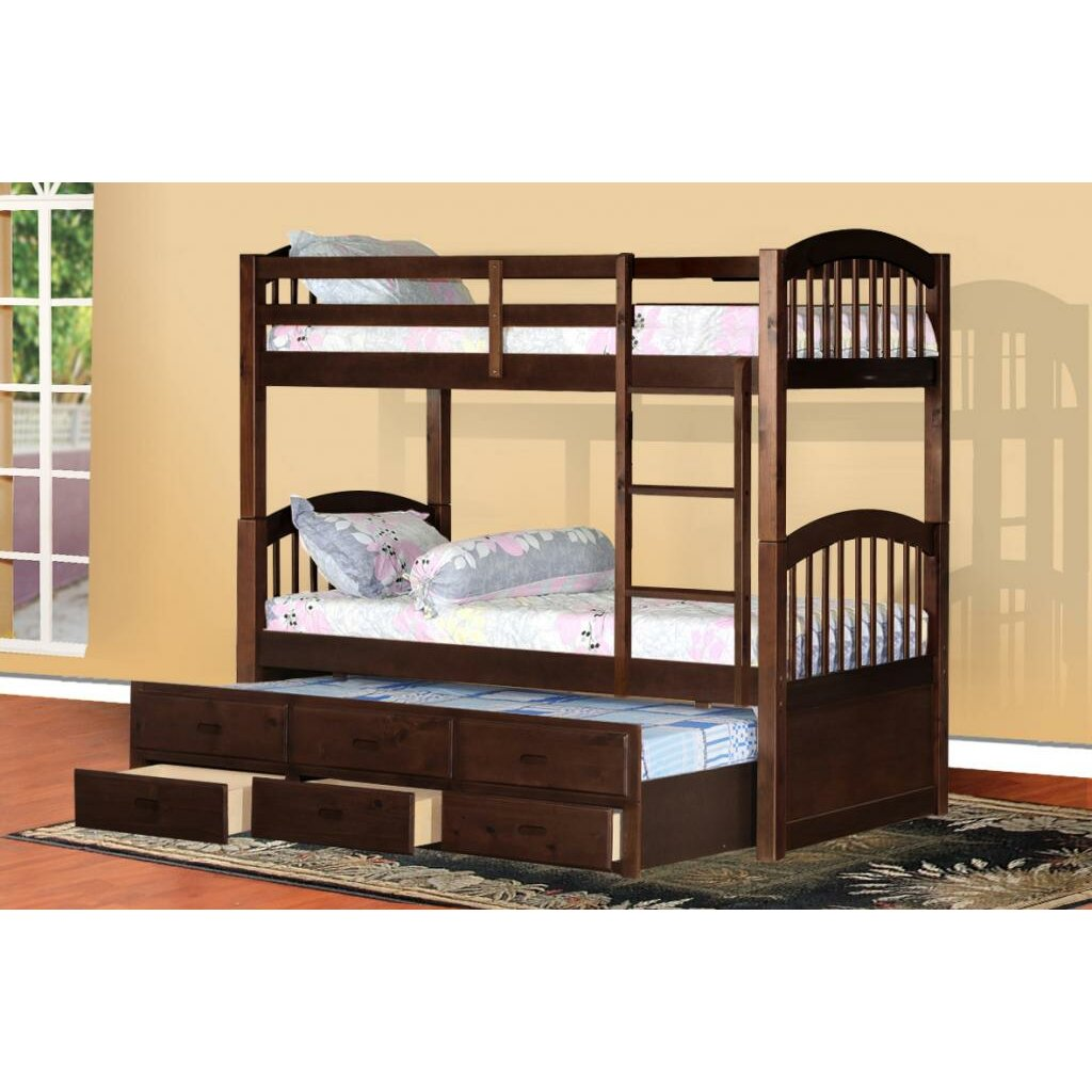 Wildon Home Arthur Twin Bunk Bed With Trundle And Storage Reviews Wayfair